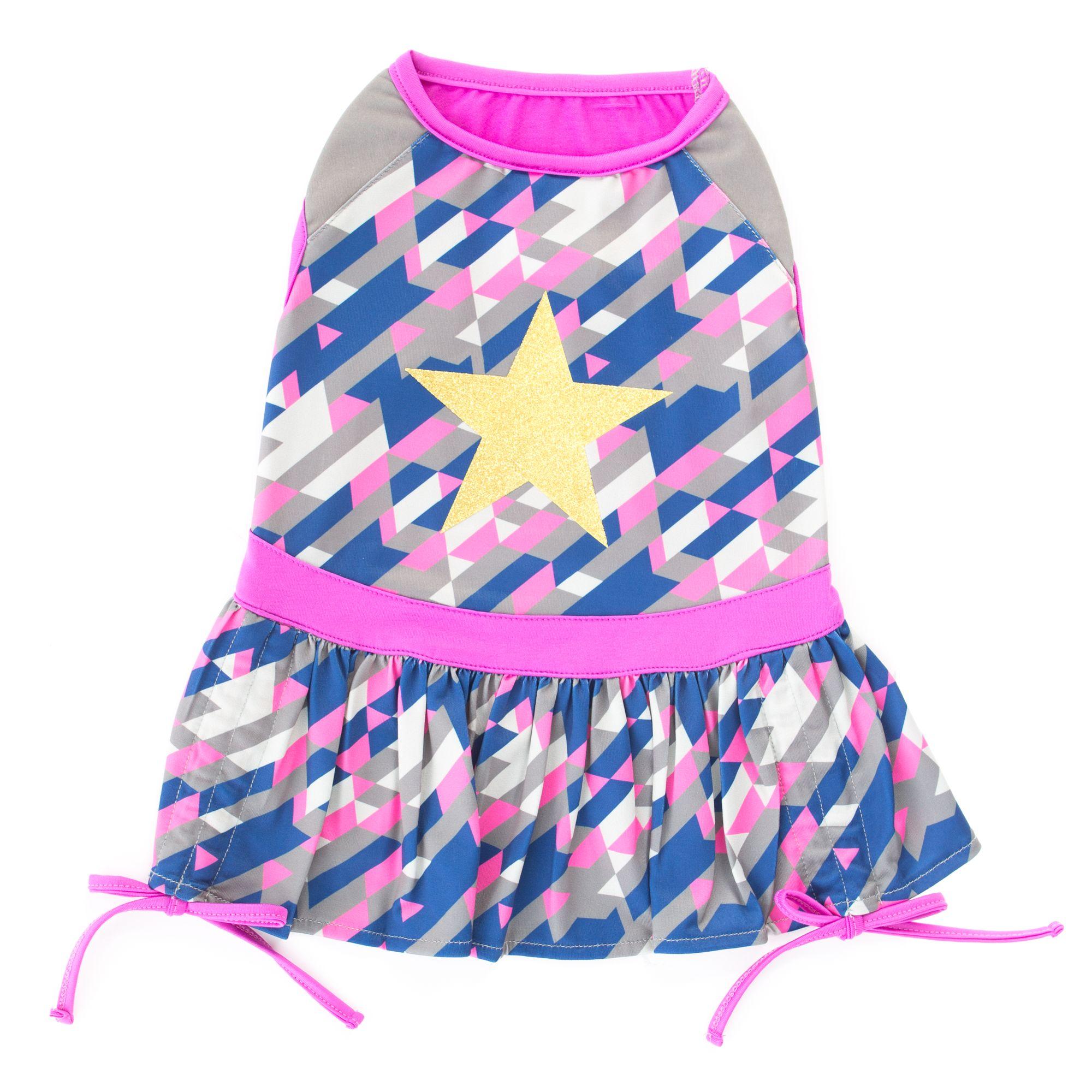 Top Paw Geo Star Dog Dress Size X Small