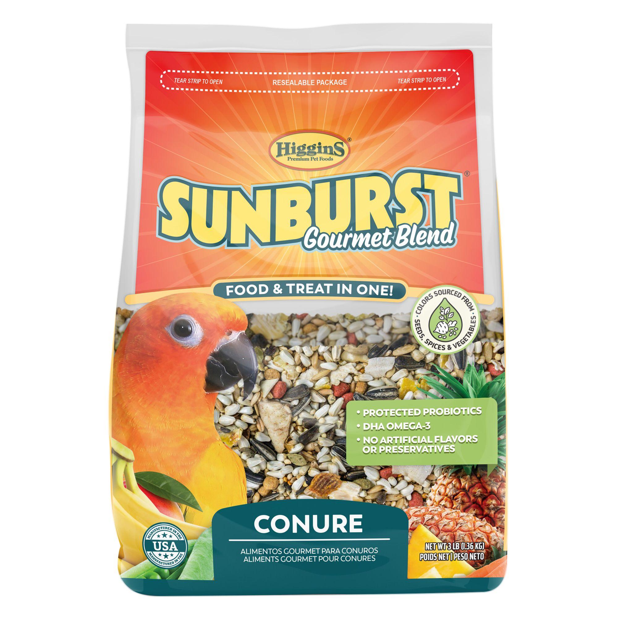 Higgins Sunburst Gourmet Blend Conure Food Size 3 Lb