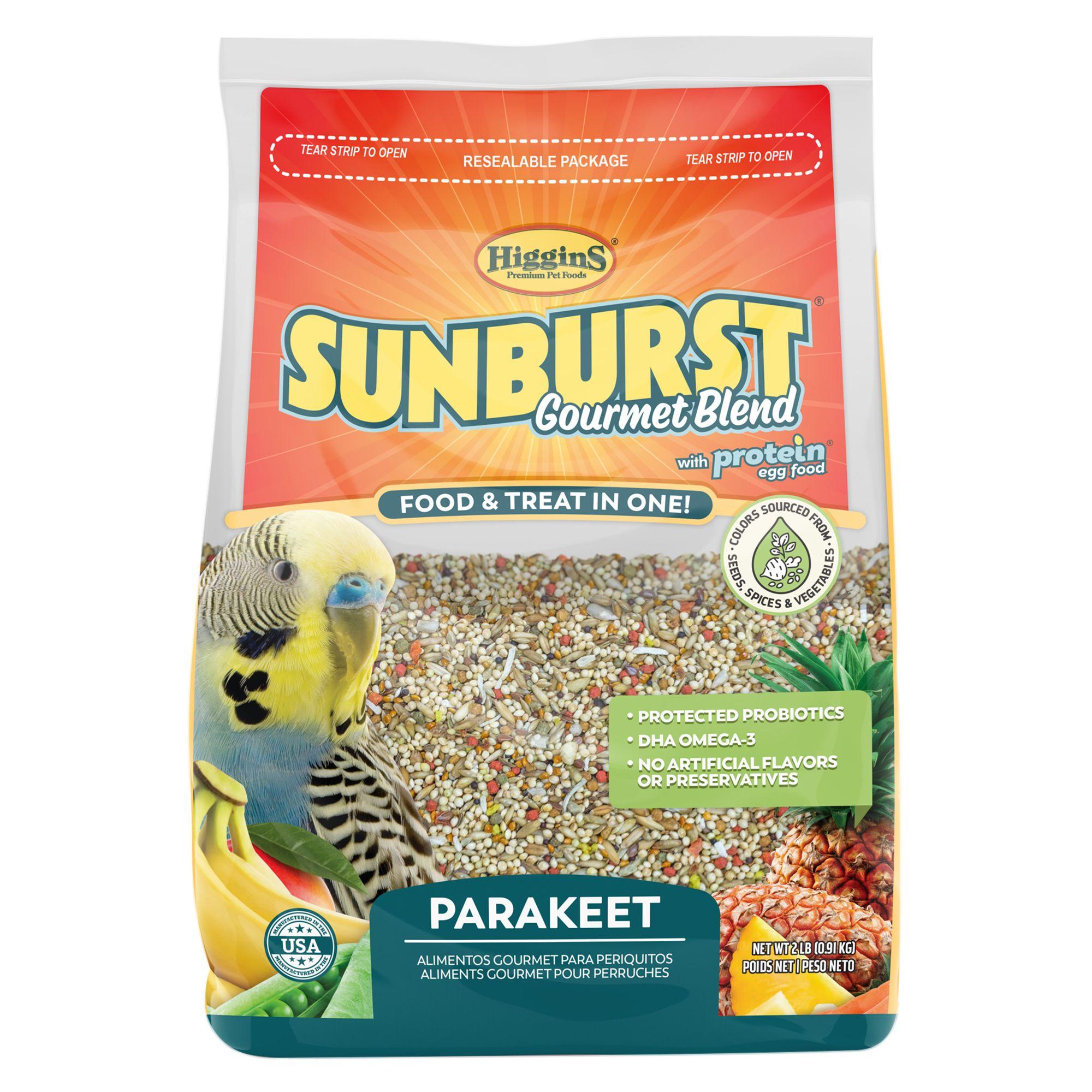 Higgins Sunburst Gourmet Blend Parakeet Food Size 2 Lb