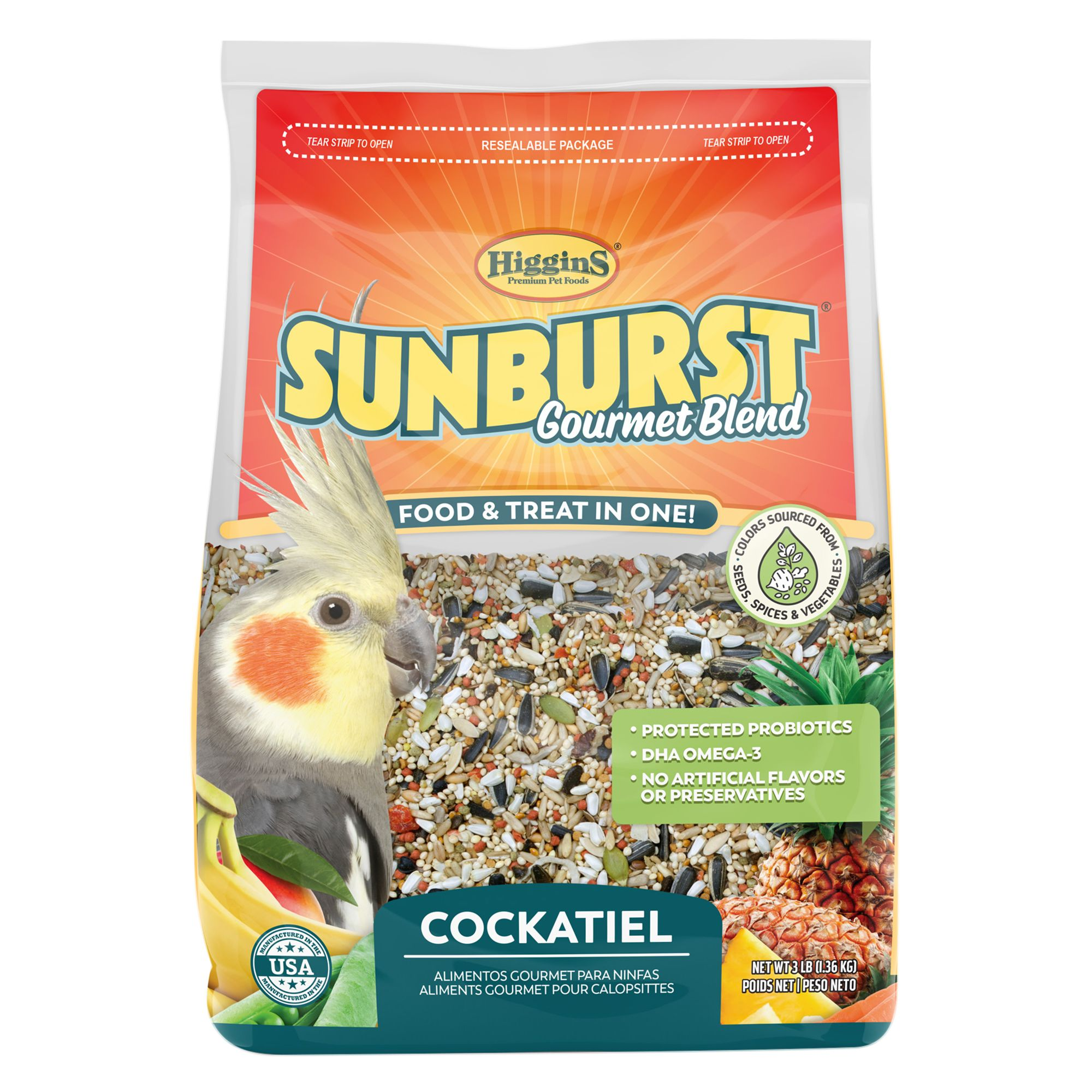 Higgins Sunburst Gourmet Blend Cockatiel Food size: 3 Lb 5261394