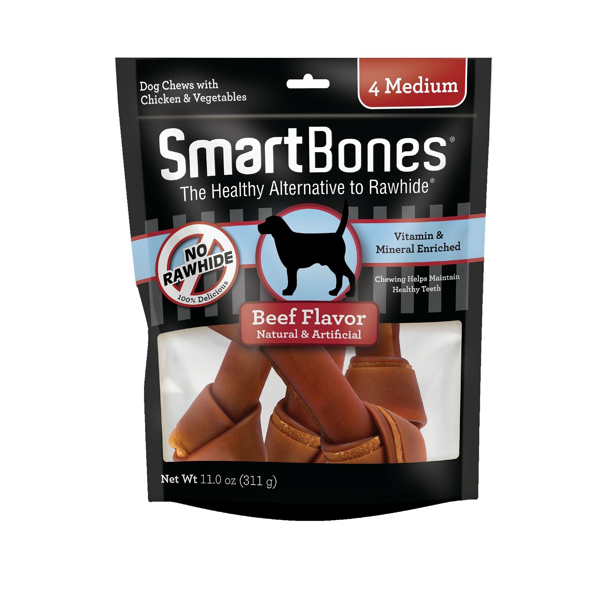 SmartBones® Medium Chews Dog Treat - Beef size: 4 Count