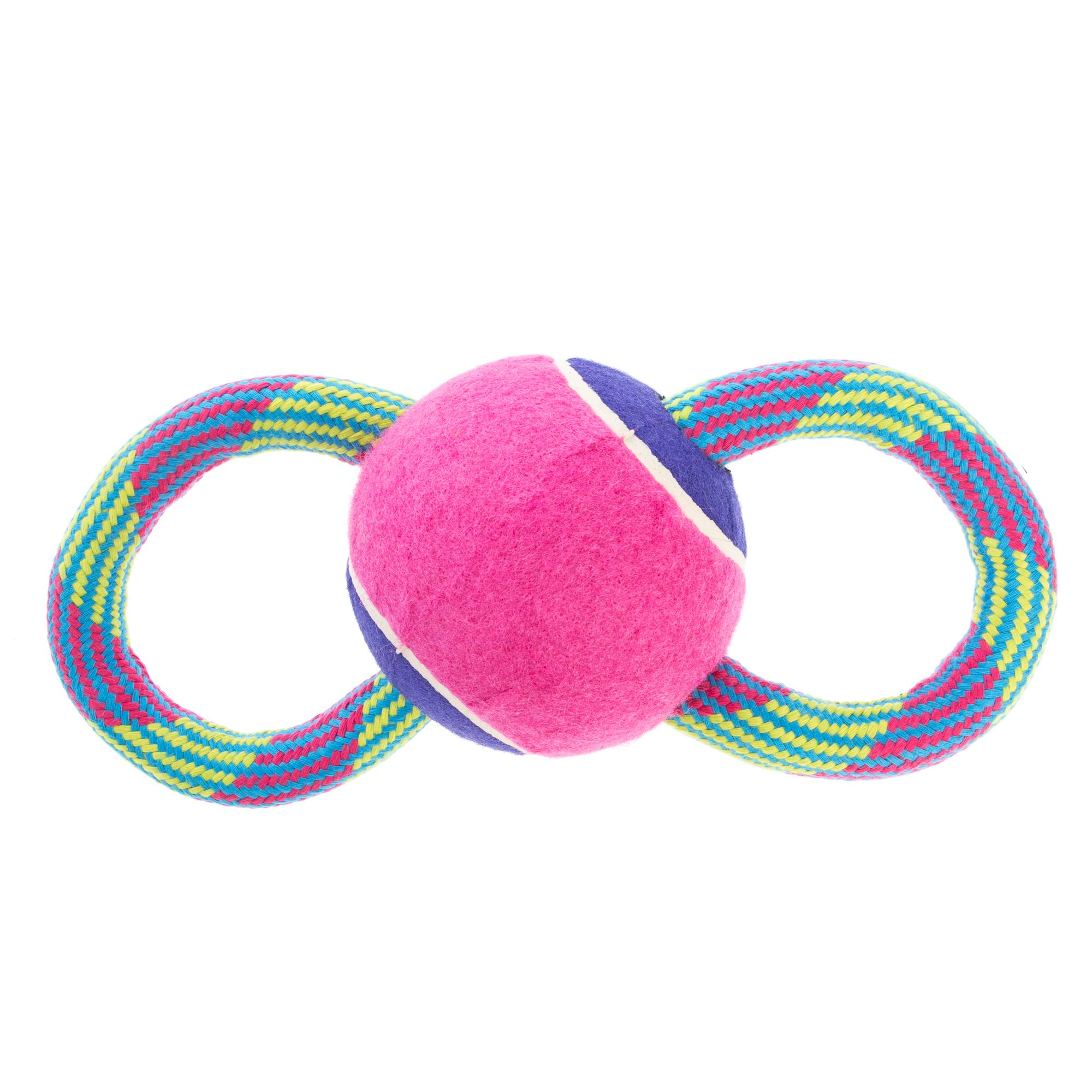 Top Paw Figure 8 Rope Large Ball Dog Toy 5261446