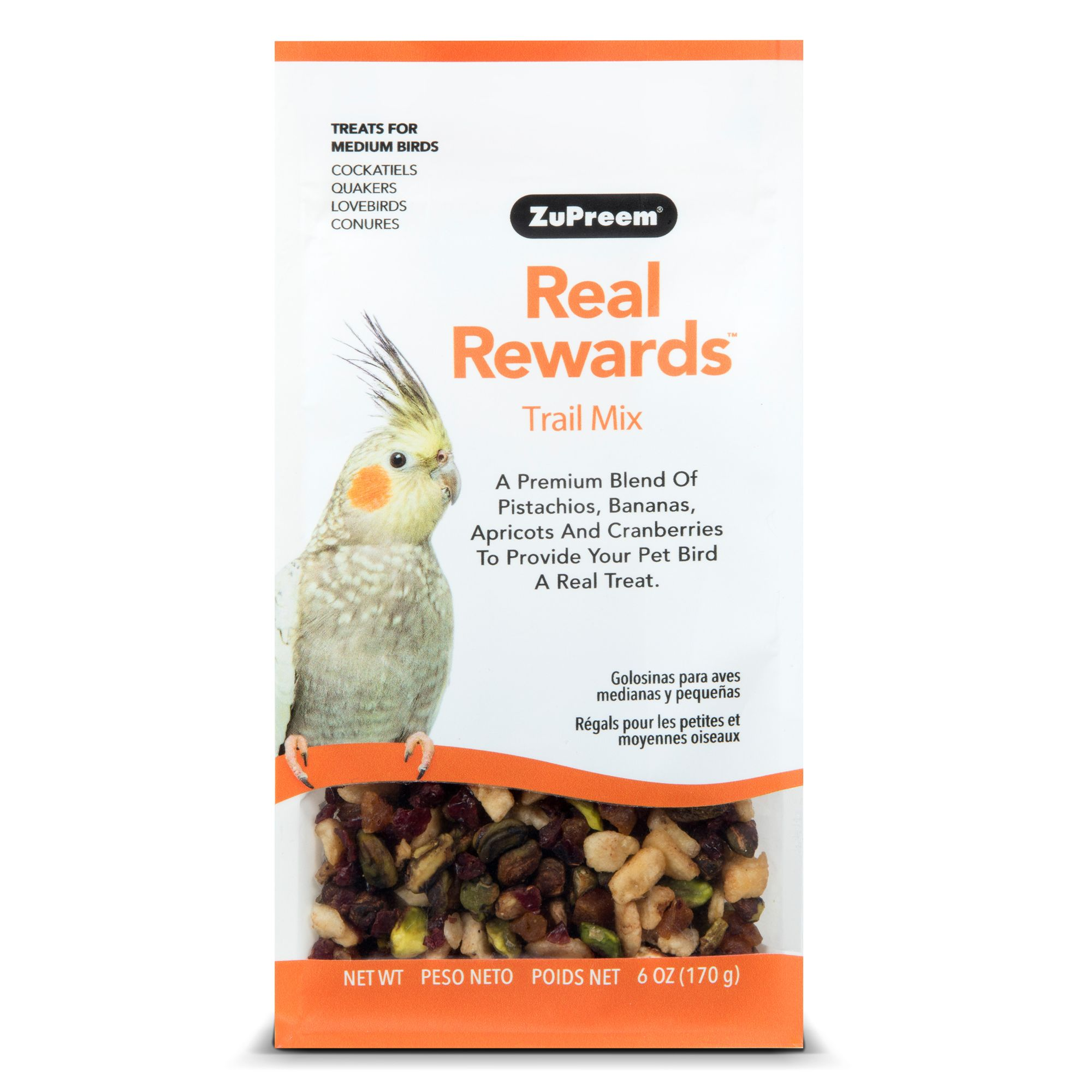 ZuPreem® Real Rewards Trail Mix Medium Bird Treats size: