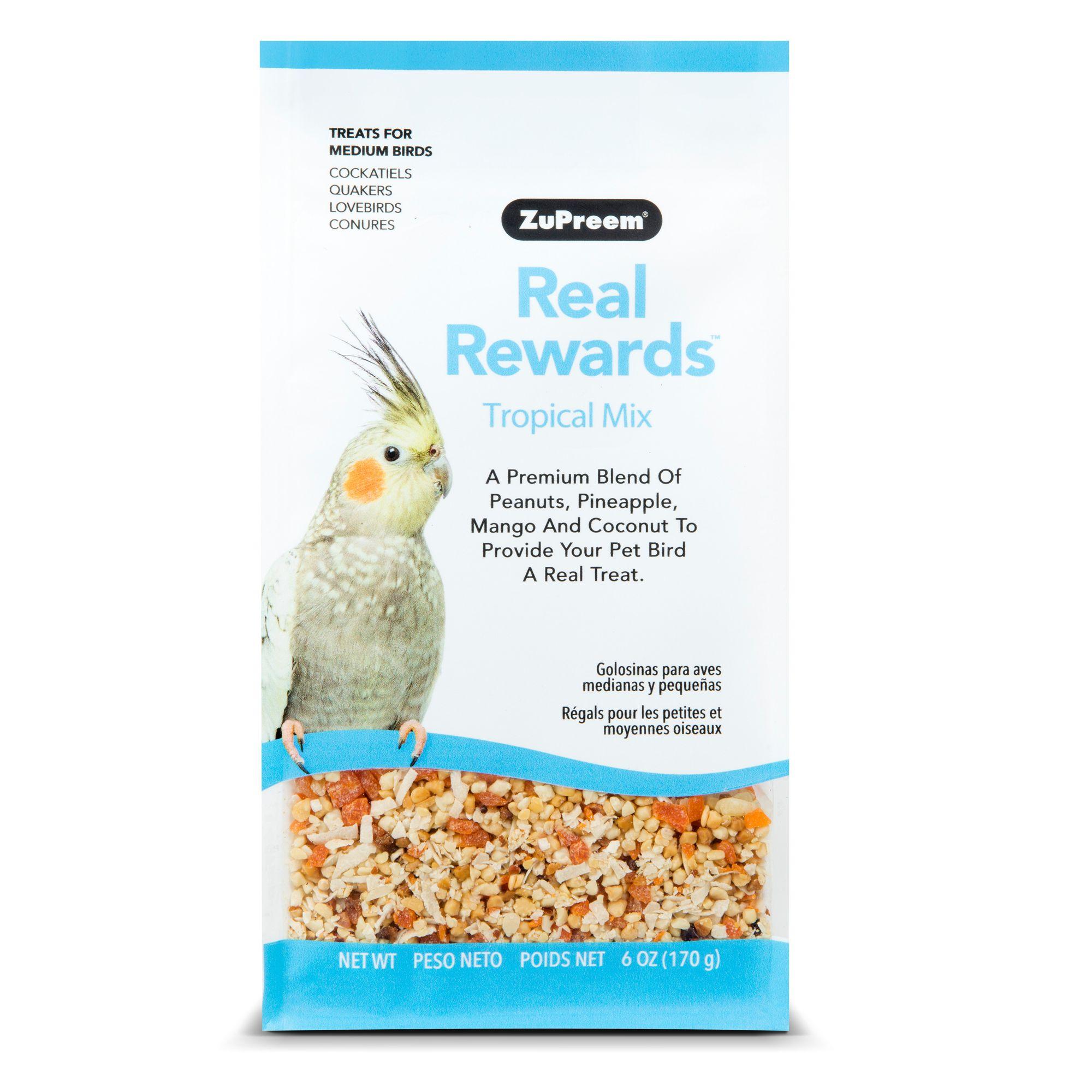 ZuPreem® Real Rewards Tropical Mix Medium Bird Treats