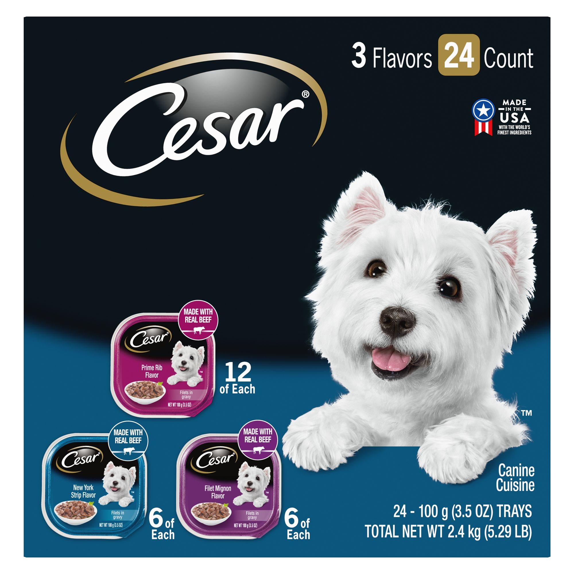 Cesar® Filets Adult Dog Food - Variety Pack, 24ct 5261846