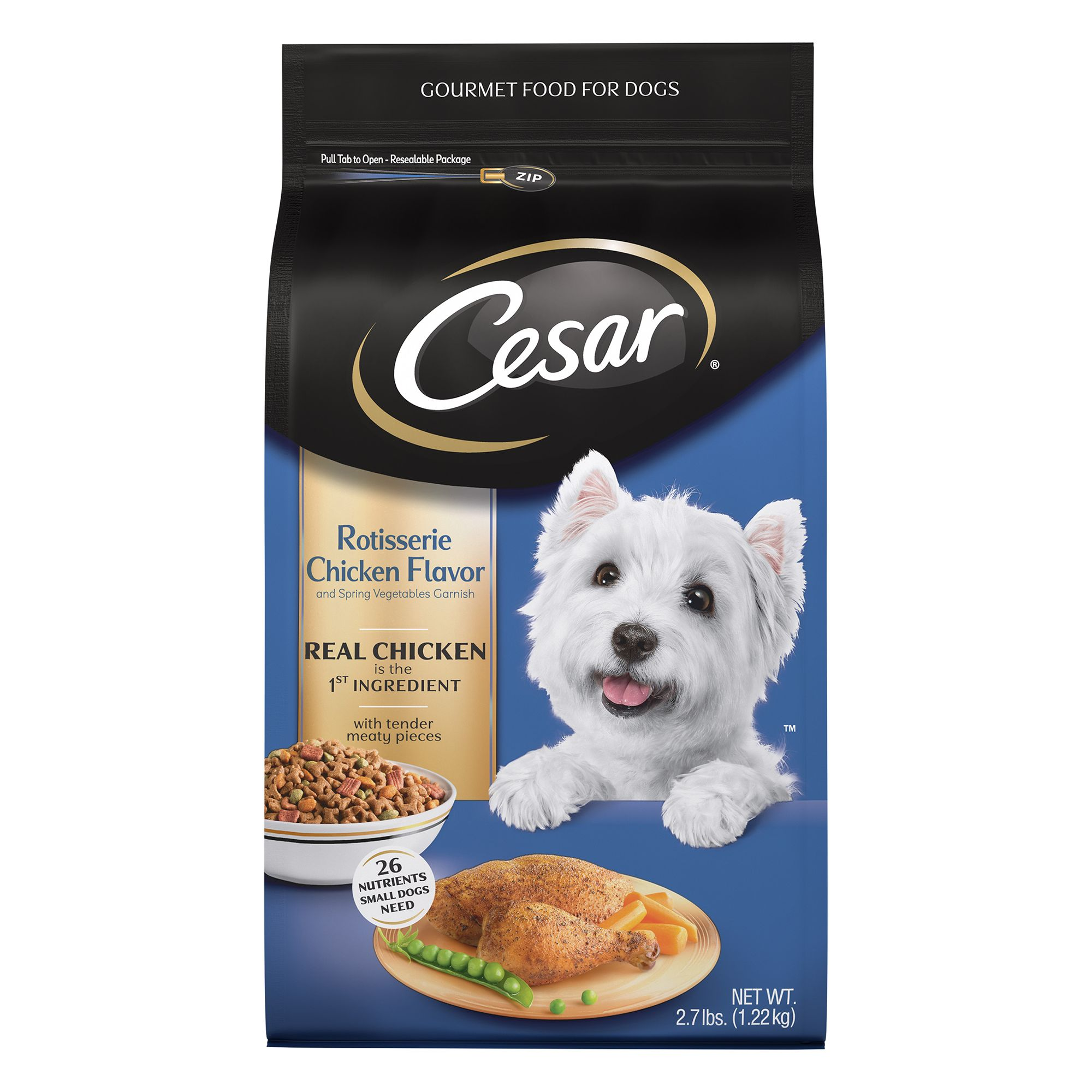 Cesar® Adult Dog Food - Rotisserie Chicken and Spring Vegetables size: 2.7 Lb 5261876