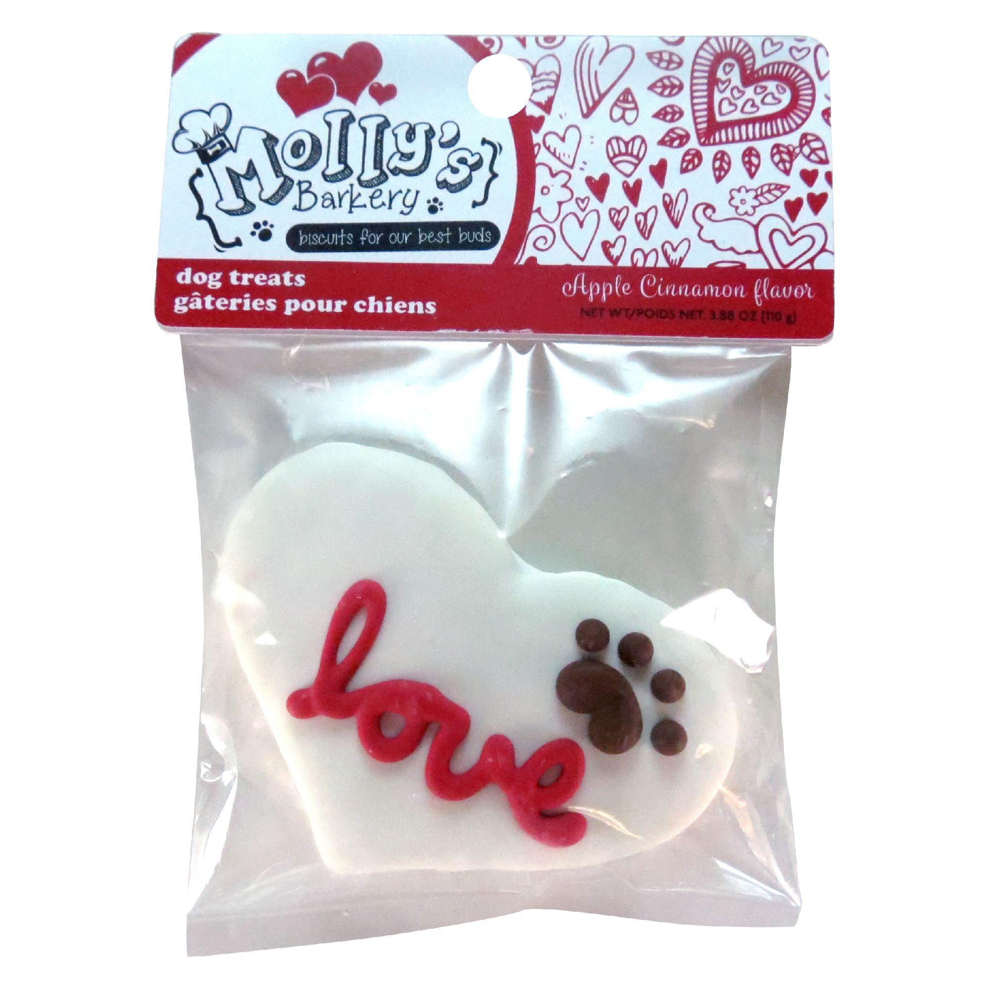 Molly's Barkery Valentine's 'Love' Dog Treat - Apple Cinnamon 5262059