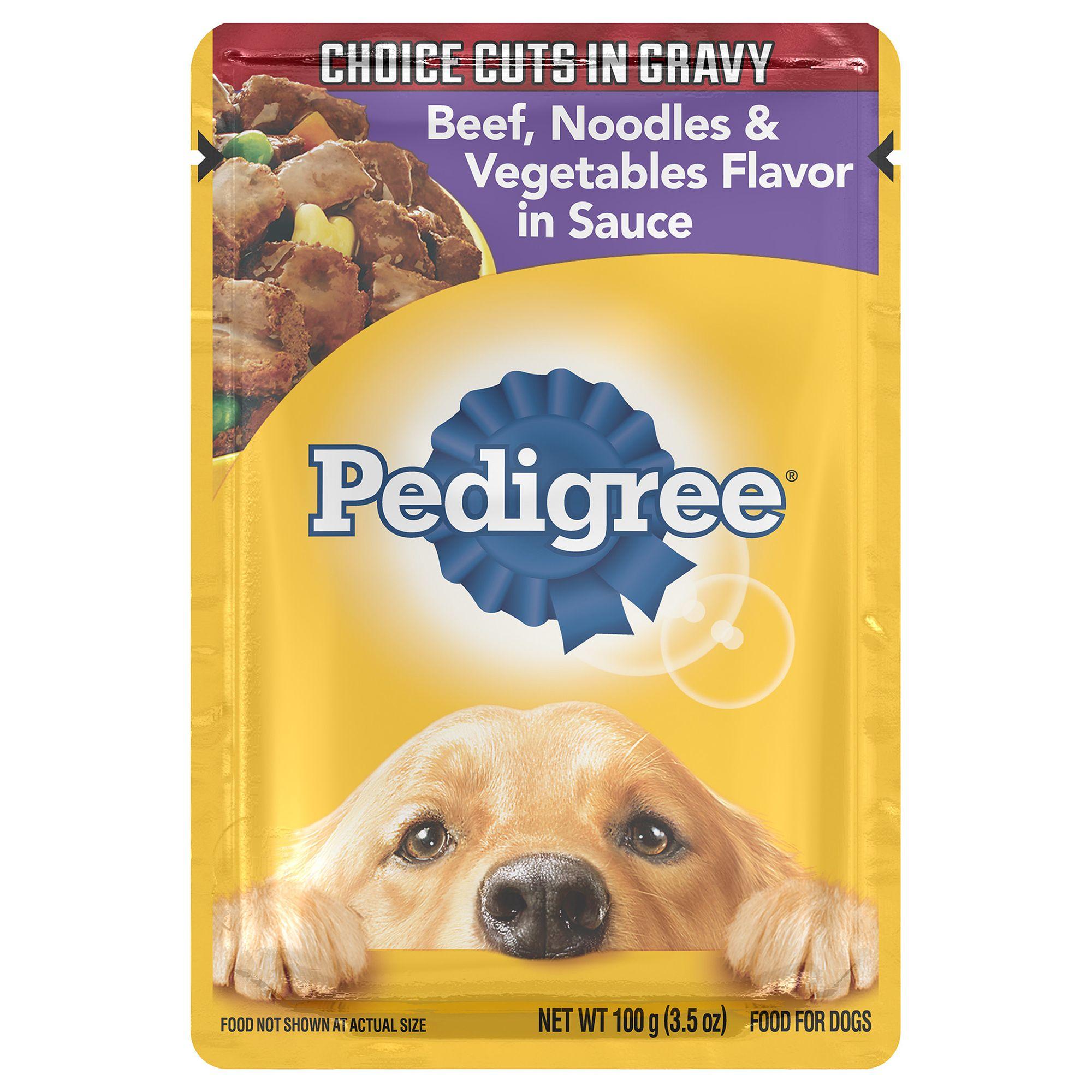 Pedigree® Adult Dog Food - Beef, Noodles and Vegetables size: 3.5 Oz 5262178
