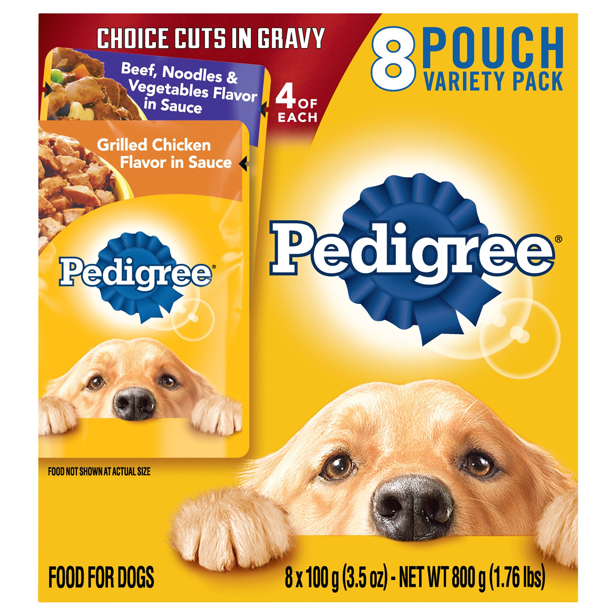Pedigree Adult Dog Food - Variety Pack, 8ct, Beef Noodle and Chicken size: 3.5 Oz 5262181