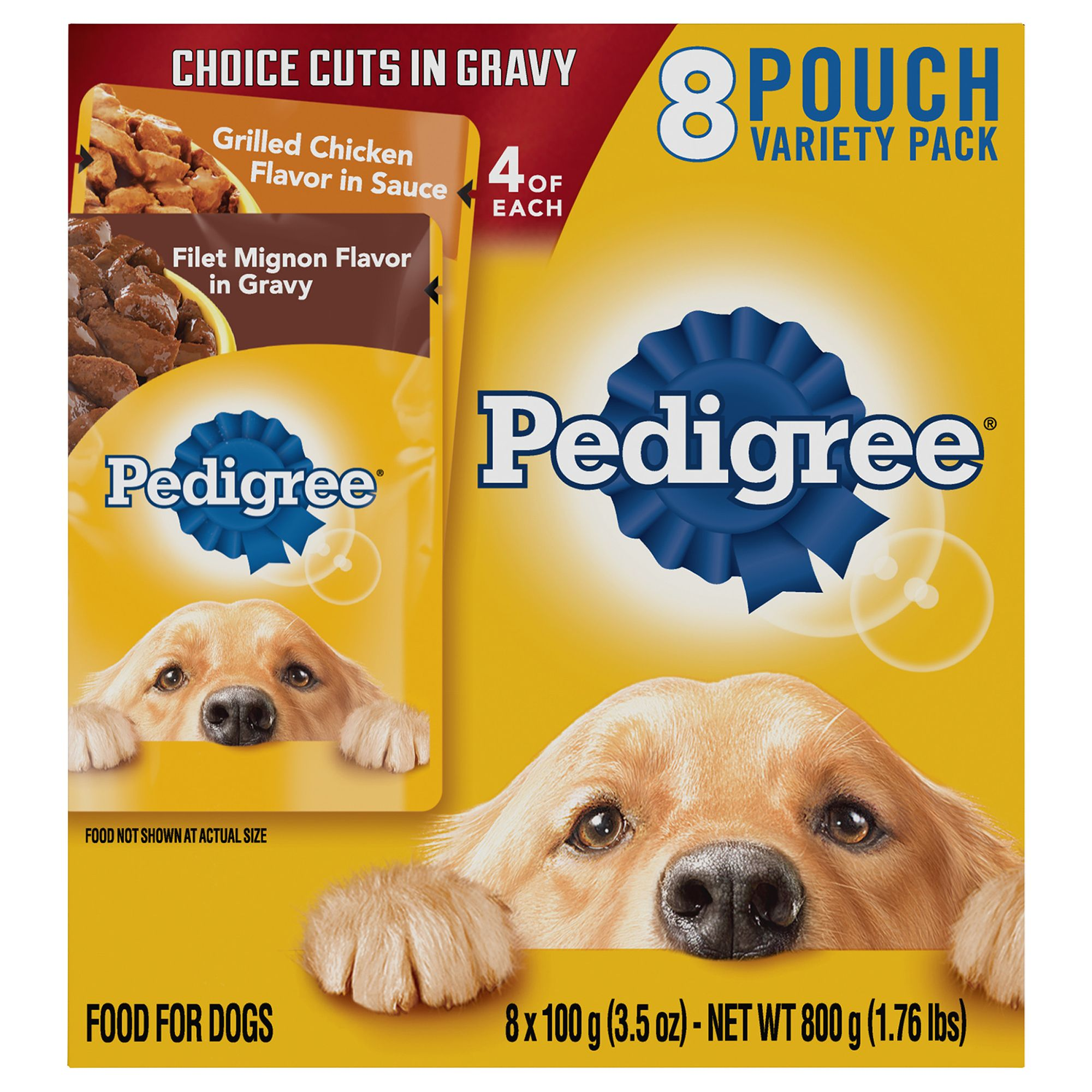 Pedigree® Adult Dog Food - Variety Pack, 8ct, Filet Mignon and Chicken size: 3.5 Oz 5262183