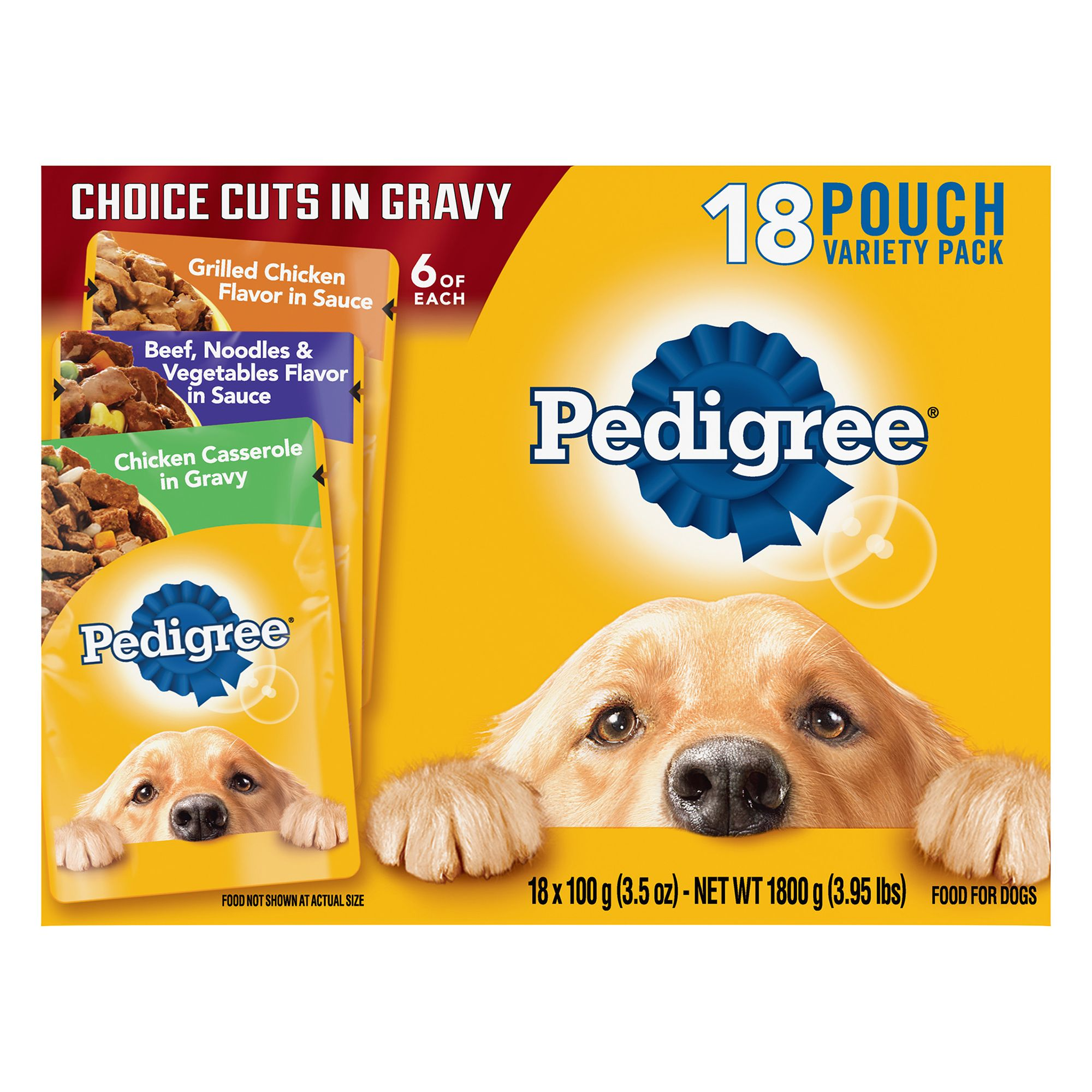 Pedigree® Adult Dog Food - Choice Cuts in Gravy, Variety Pack, 18ct 5262185
