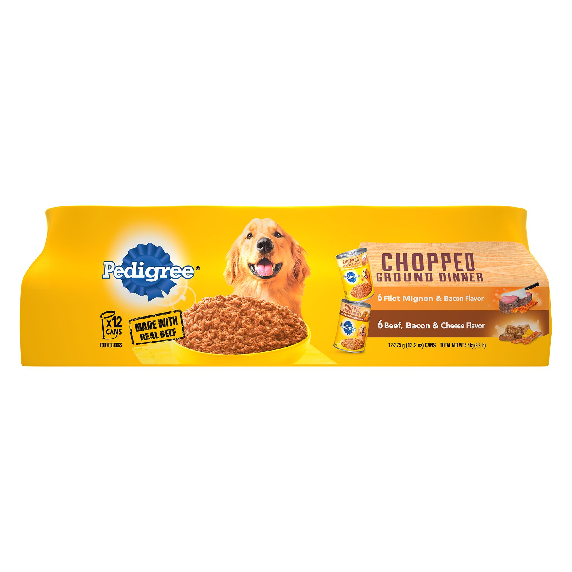 Pedigree® Adult Dog Food - Chopped/Chunky Ground Dinner Variety Pack, 12ct 5262194