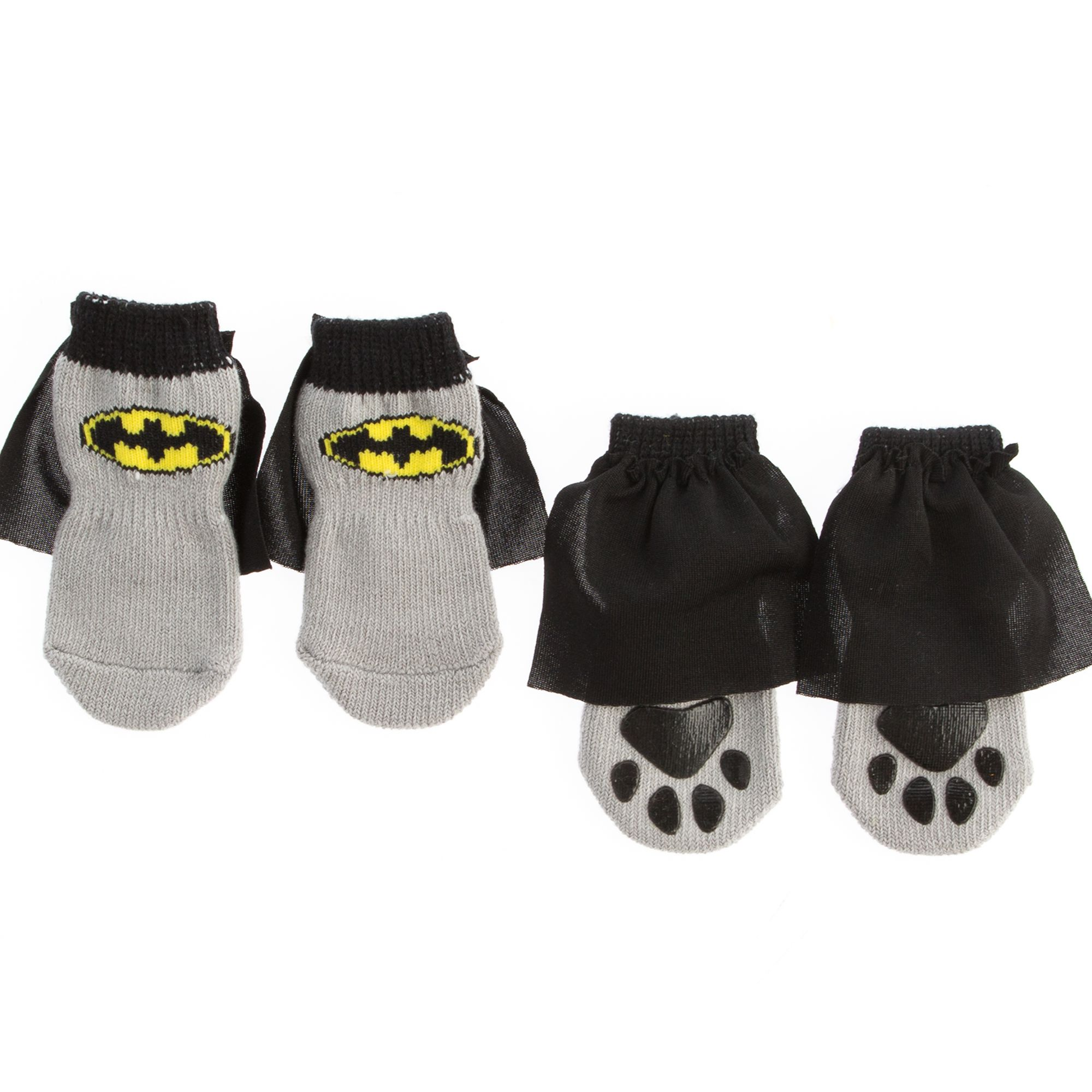 Dc Comics Batman Cape Dog Socks Size Large