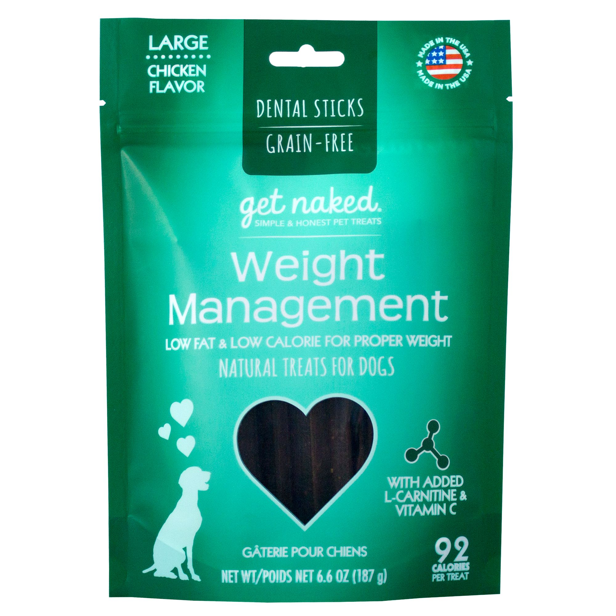 Get Naked Weight Management Large Dog Dental Treat - Natural