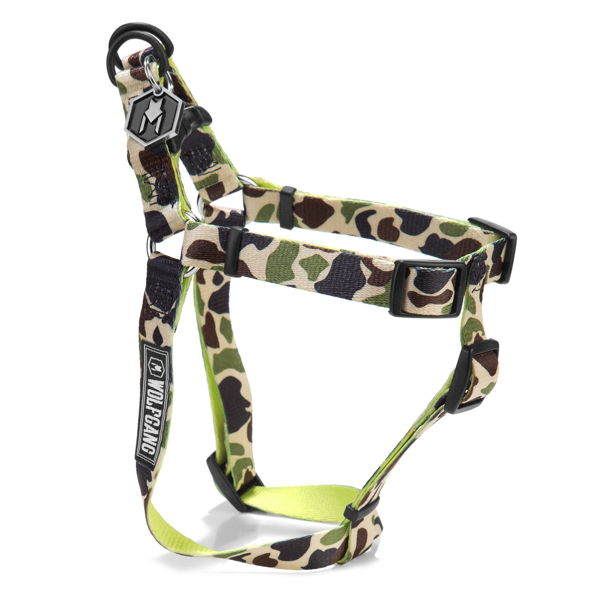 Wolfgang Man and Beast DuckLime Dog Harness size: Small, Wolfgang Man & Beast 5262423