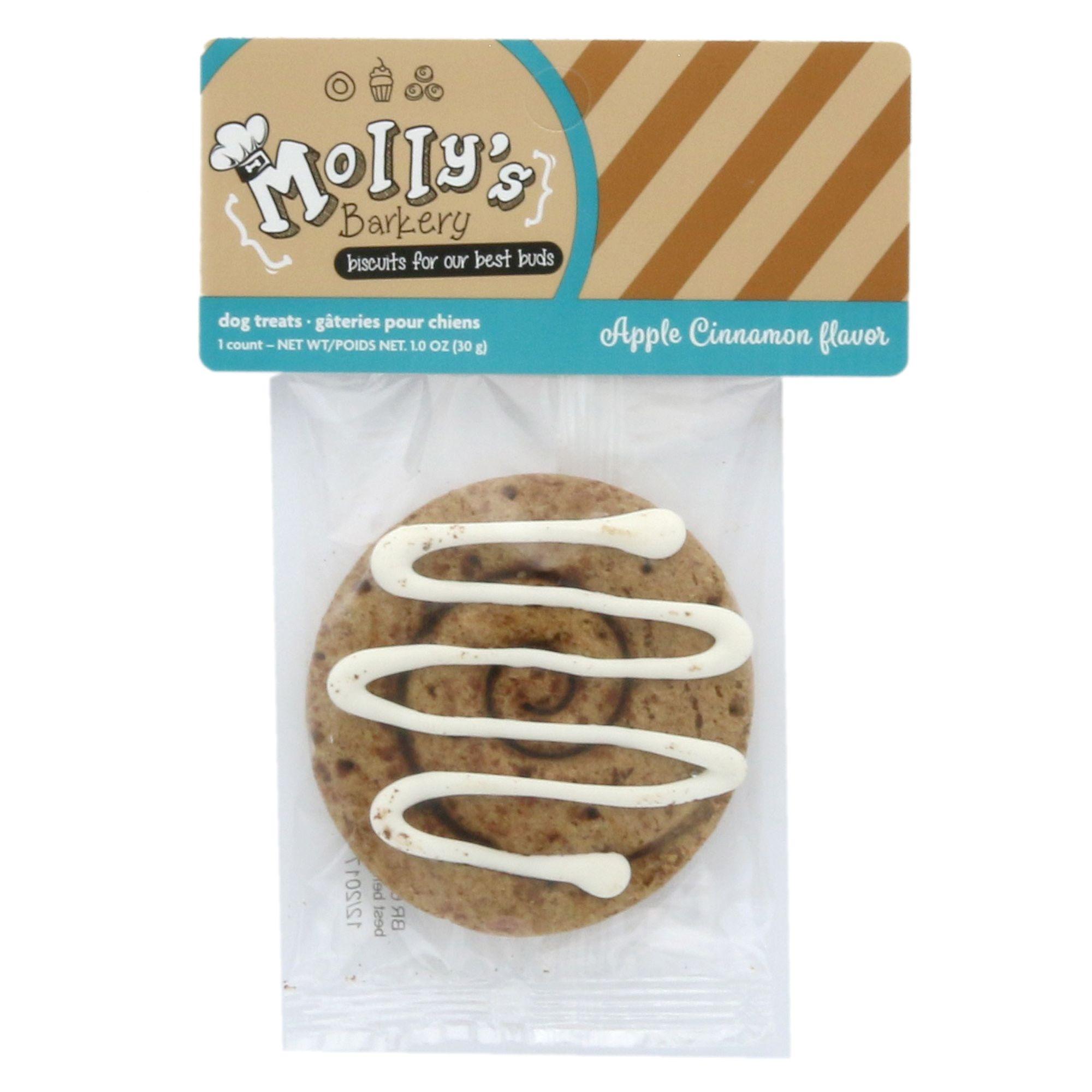 Mollys Barkery Cinnamon Bun Cookie Dog Treat Apple Cinnamon