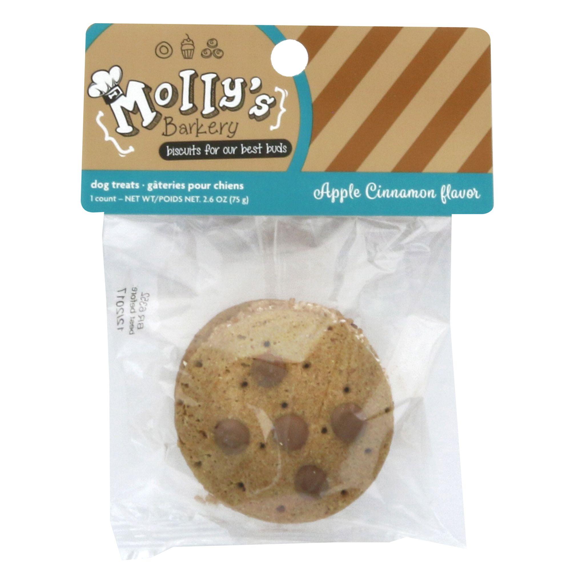 Mollys Barkery Cookie Sandwich Dog Treat Apple Cinnamon