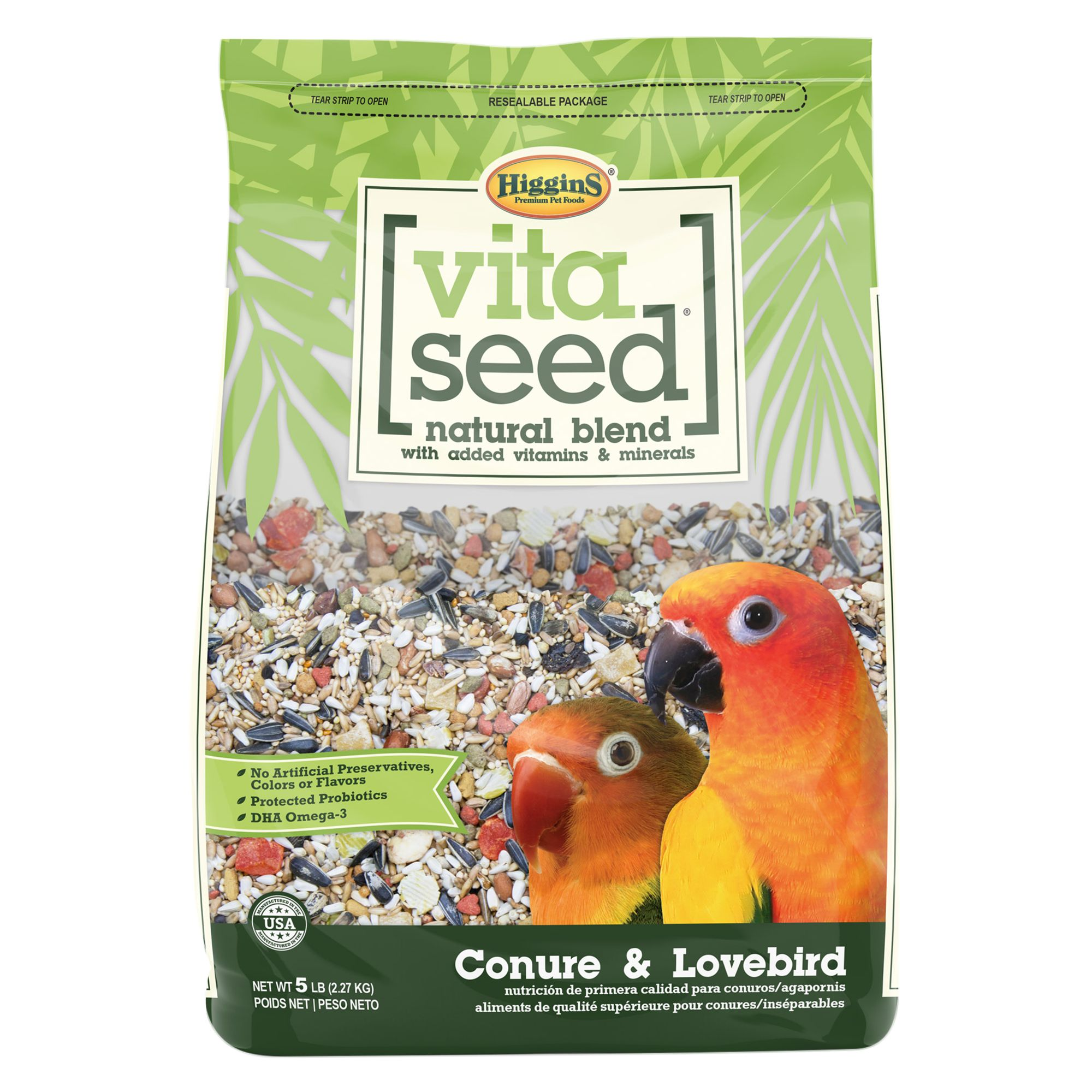 Higgins Vita Seed Conure and Lovebird Food size: 5 Lb 5262917