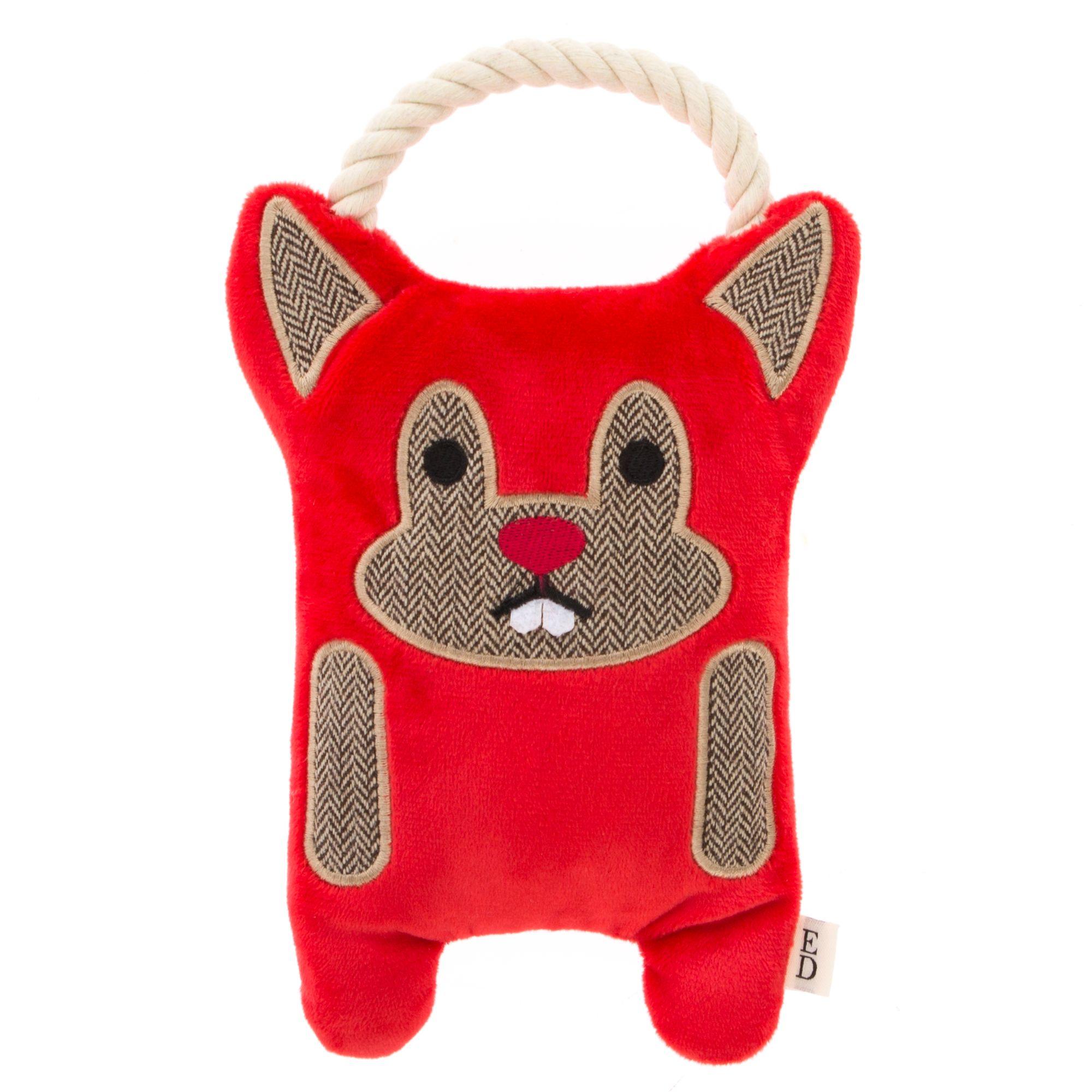 Ed Ellen Degeneres Beaver Dog Toy Plush Rope Squeaker