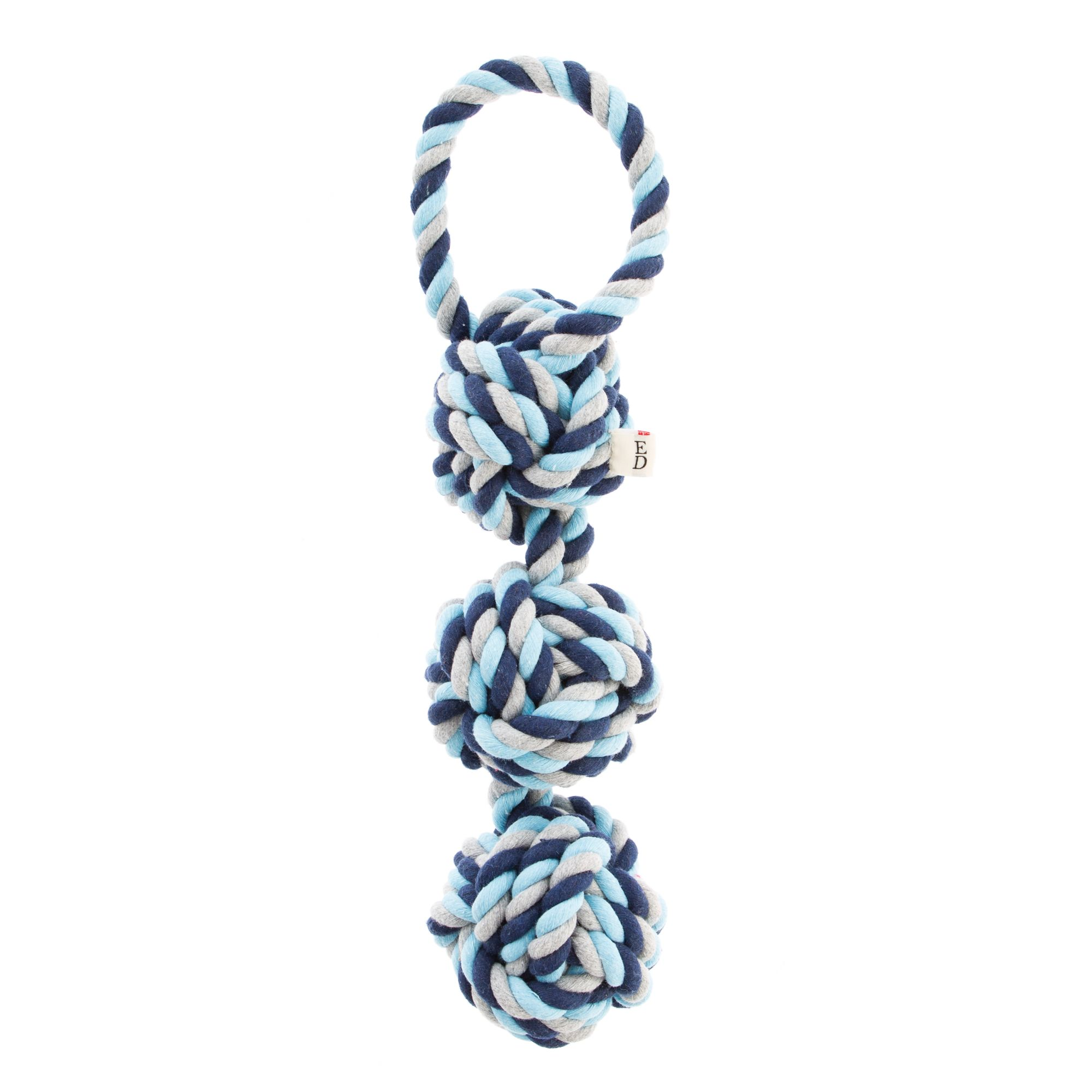 Ed Ellen Degeneres 3 Knot Dog Toy Rope