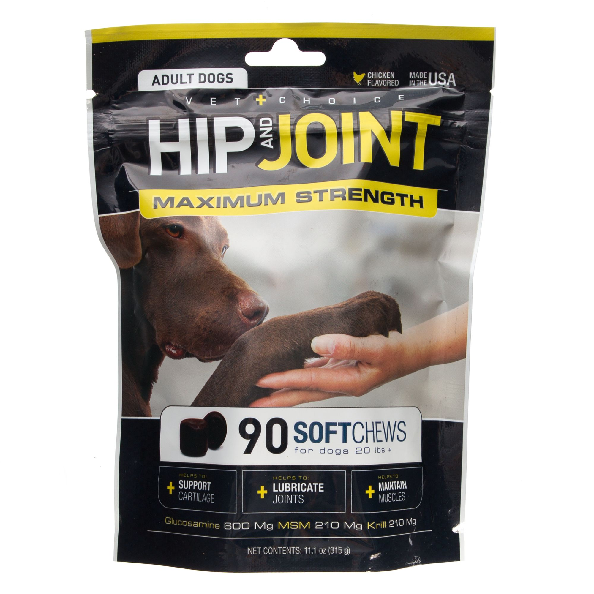 Dog Md Hip And Joint Adult Dog Soft Chews Size 90 Count