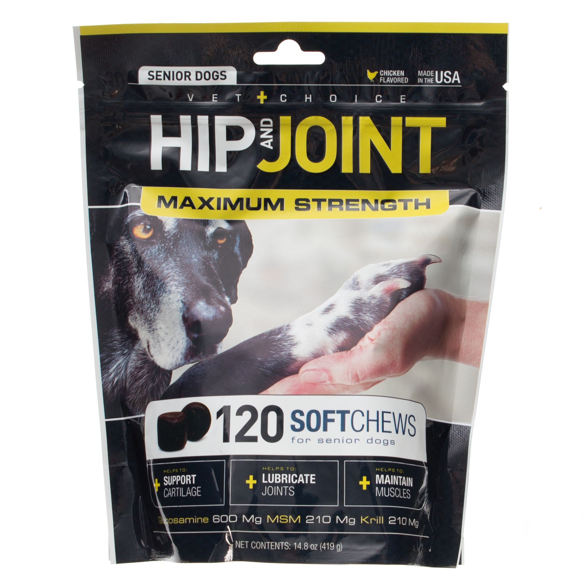 Dog Md Hip And Joint Senior Dog Soft Chews Size 120 Count