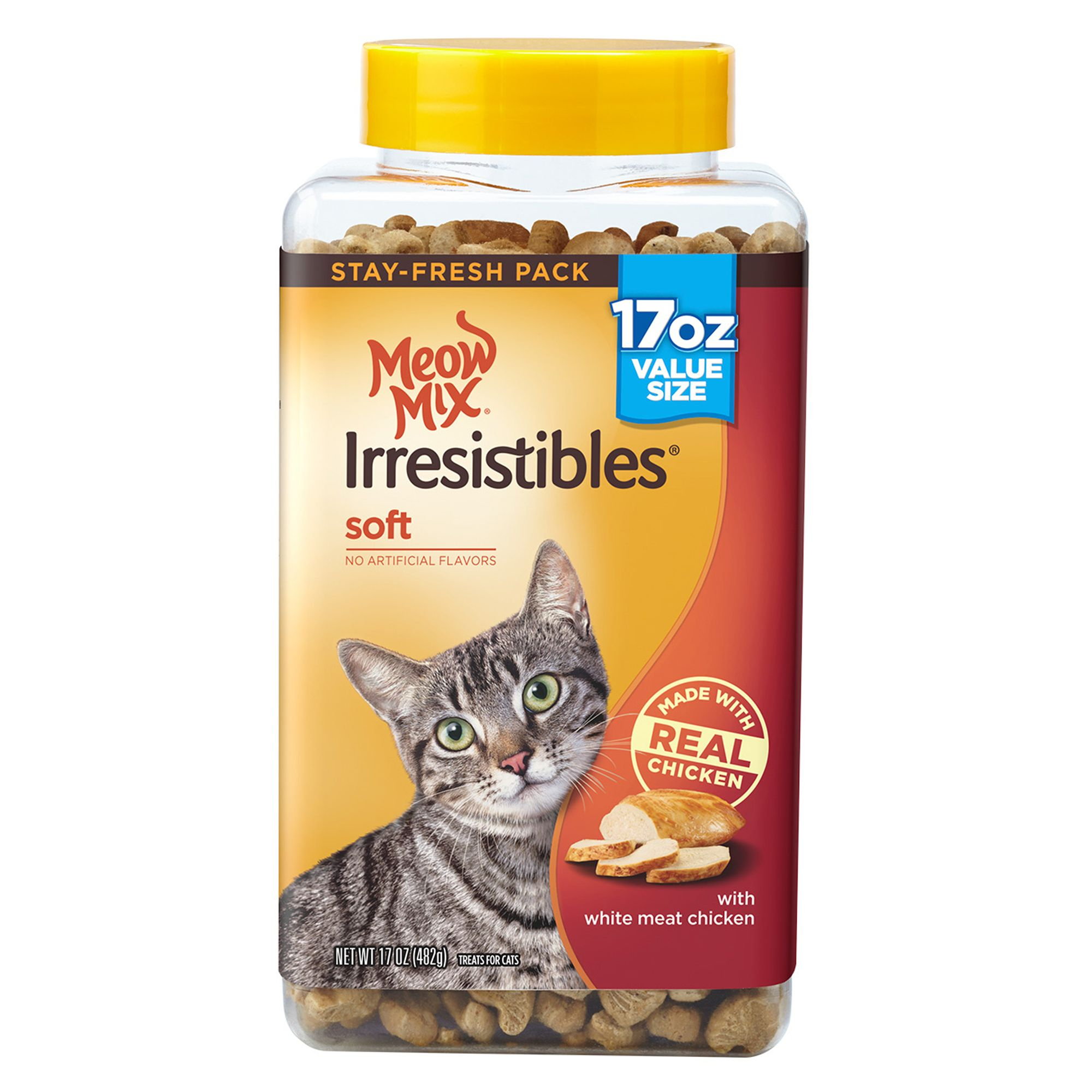 Meow Mix Irresistibles Soft Cat Treat - Chicken size: 17 Oz 5263588