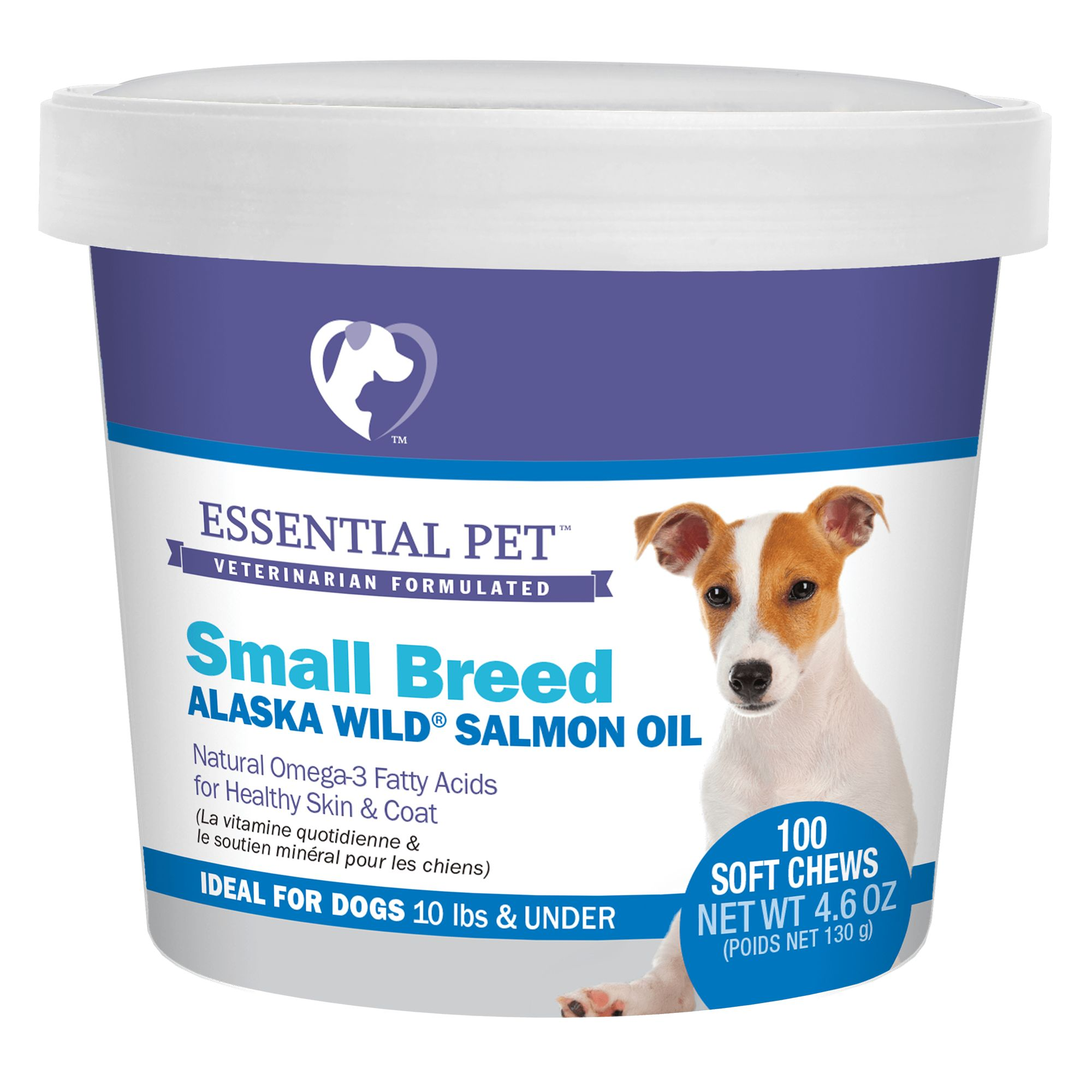 21st Century 10 Lbs And Under Skin And Coat Dog Soft Chews Size 100 Count