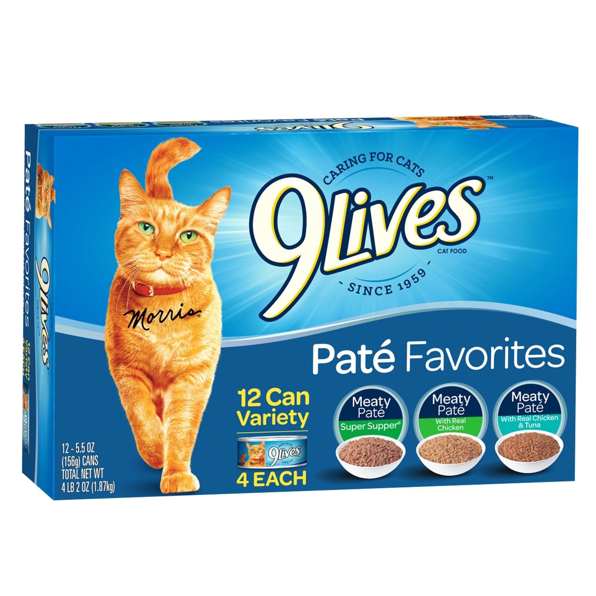 9lives Adult Cat Food Variety Pack 12ct Size 5.5 Oz