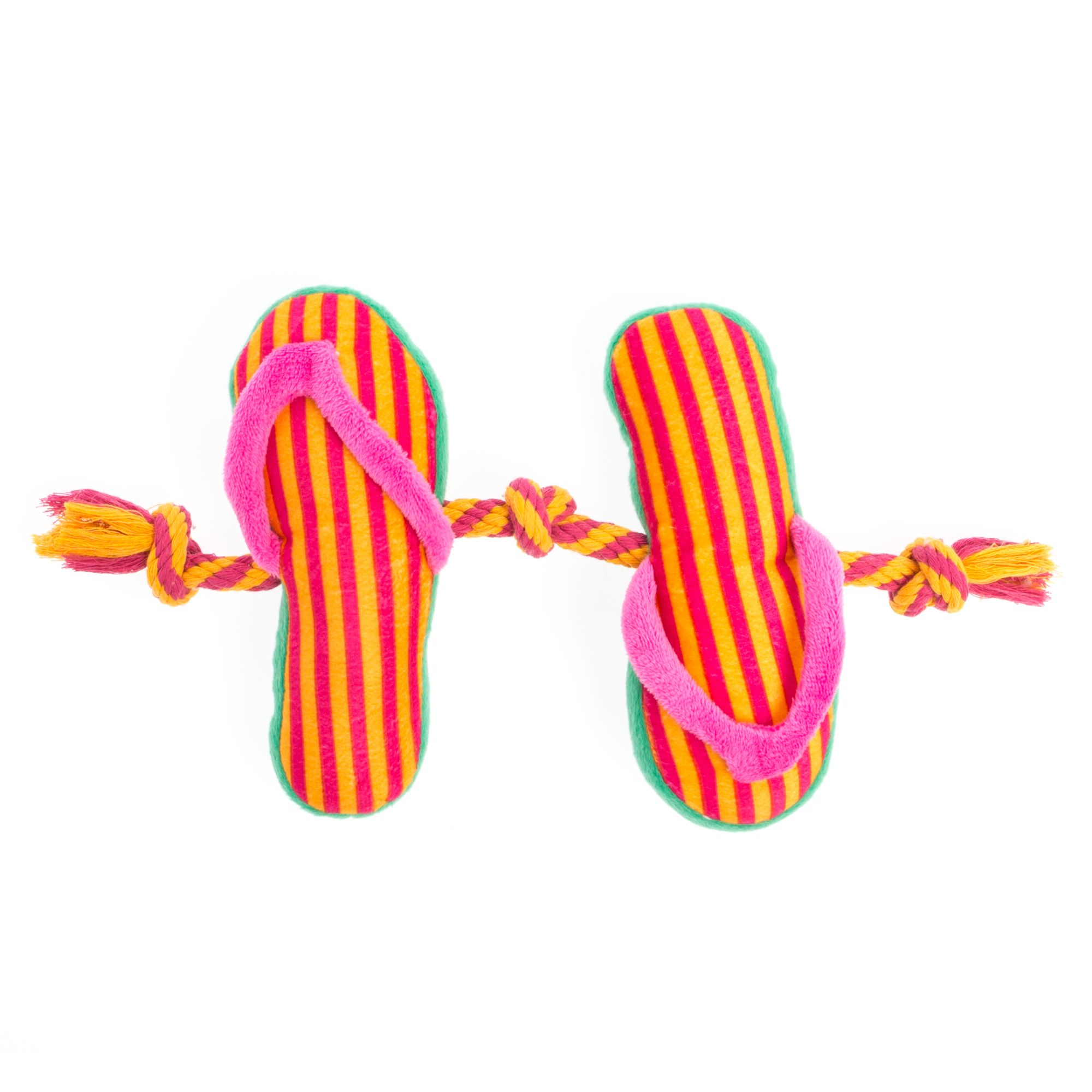 Top Paw Flip Flop 3-Knot Rope Dog Toy, Pink 5263953