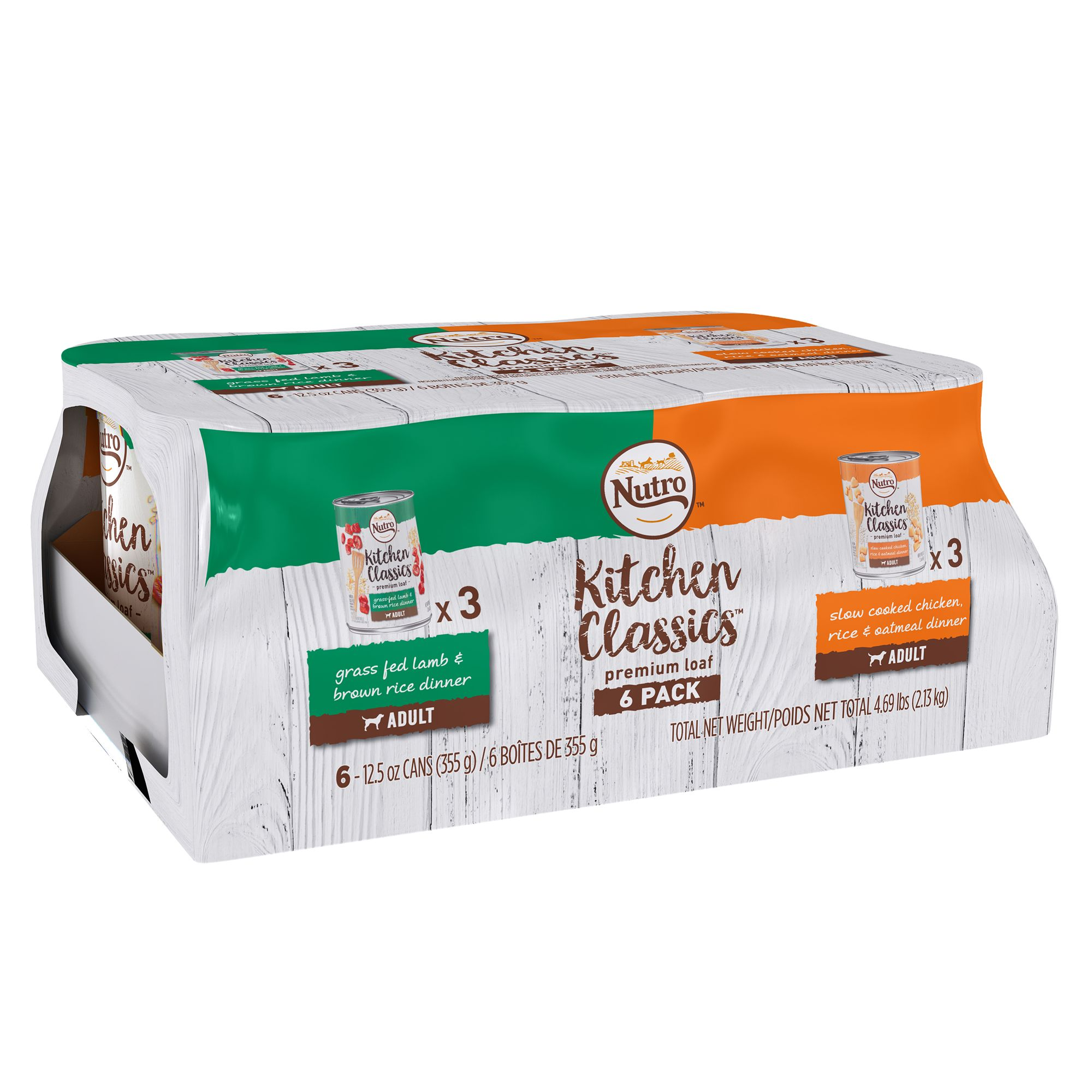 Nutro Kitchen Classics Adult Dog Food Natural Lamb And Chicken Variety Pack 6ct