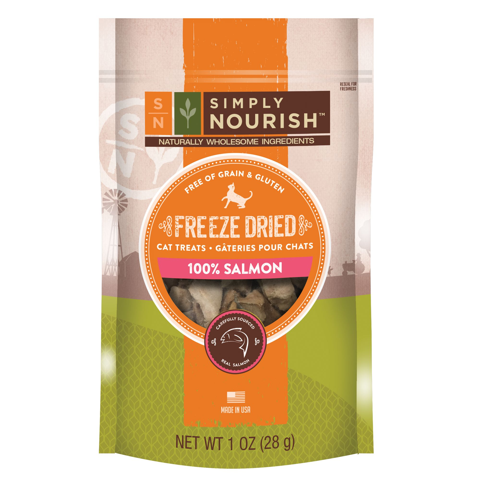 Simply Nourish, Freeze Dried Cat Treat - Natural, Grain and Gluten Free, Salmon size: 1 Oz 5264058