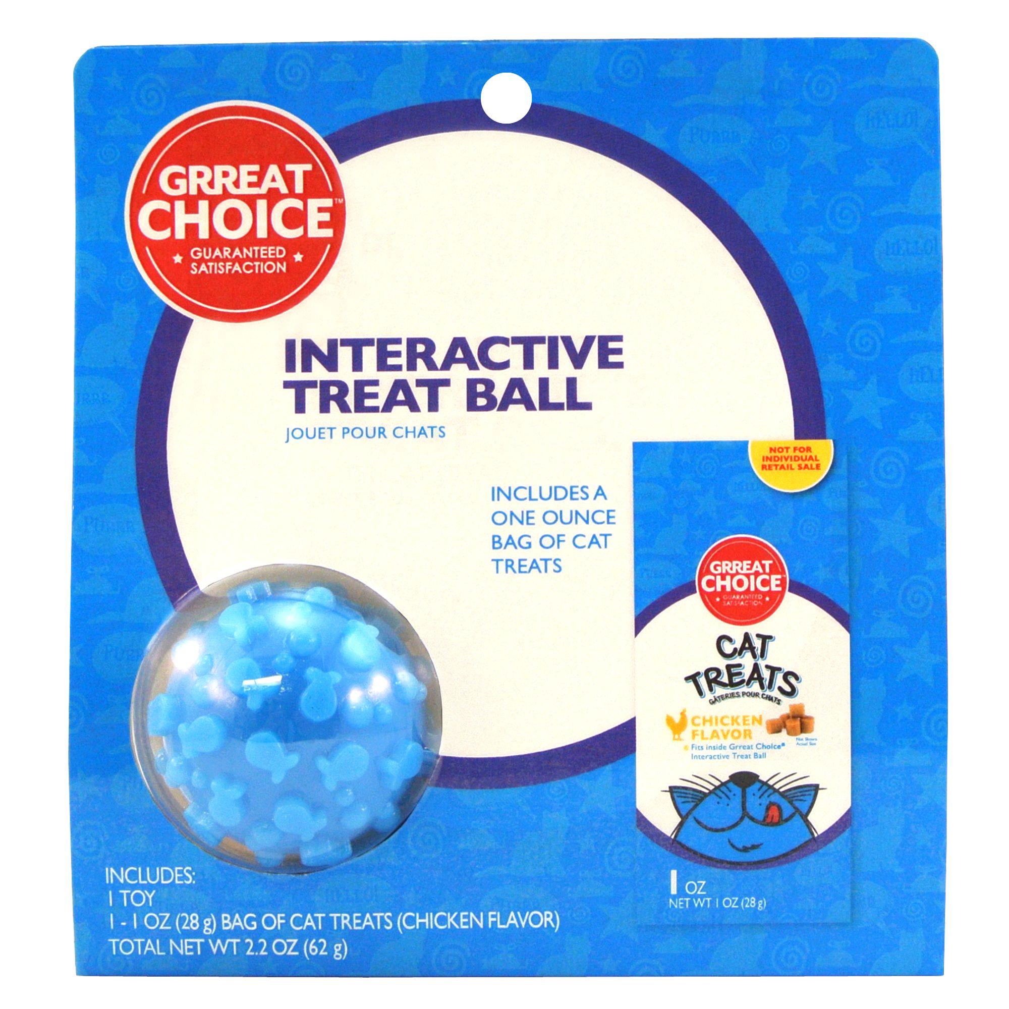 Grreat Choice Interactive Treat Ball And Cat Treat
