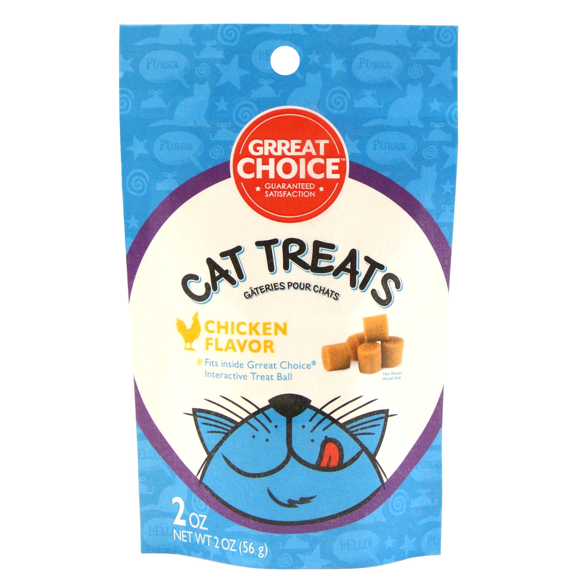 Grreat Choice Cat Treat Refill For Treat Ball Chicken Size 2 Oz