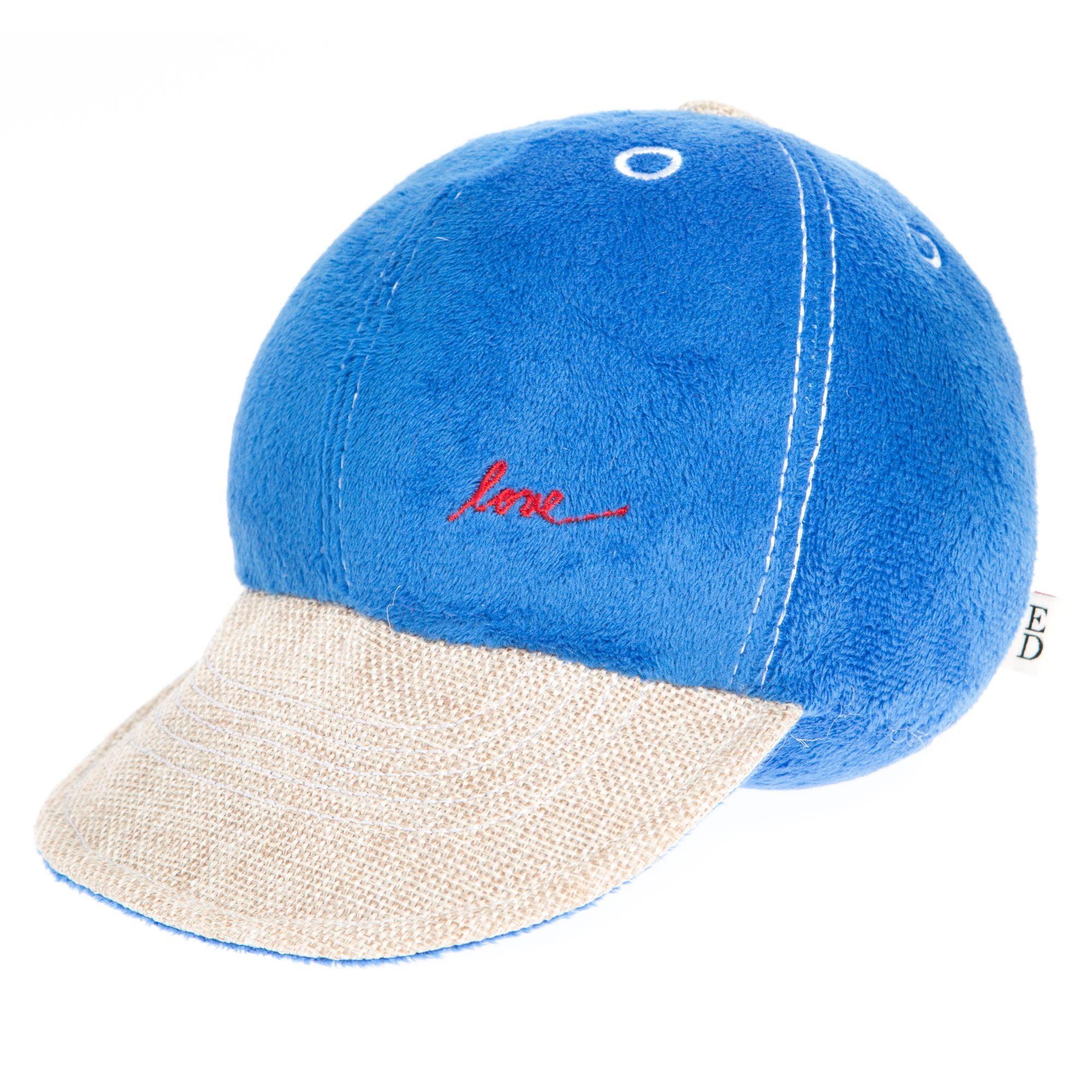 ED Ellen DeGeneres Love Baseball Hat Dog Toy - Plush, Squeaker 5264112