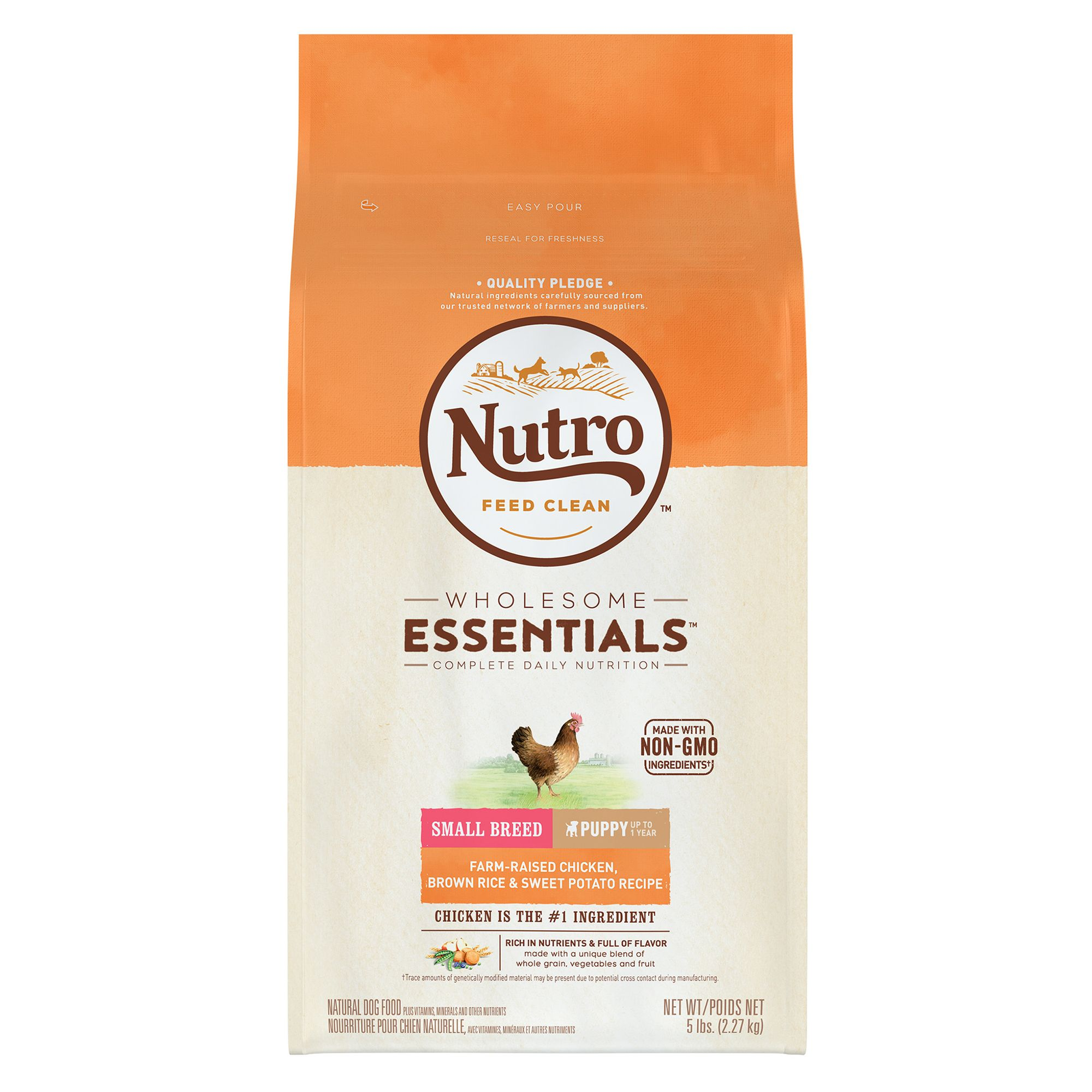 Nutro Wholesome Essentials Small Breed Puppy Food Natural Chicken Brown Rice And Sweet Pota Size 5 Lb