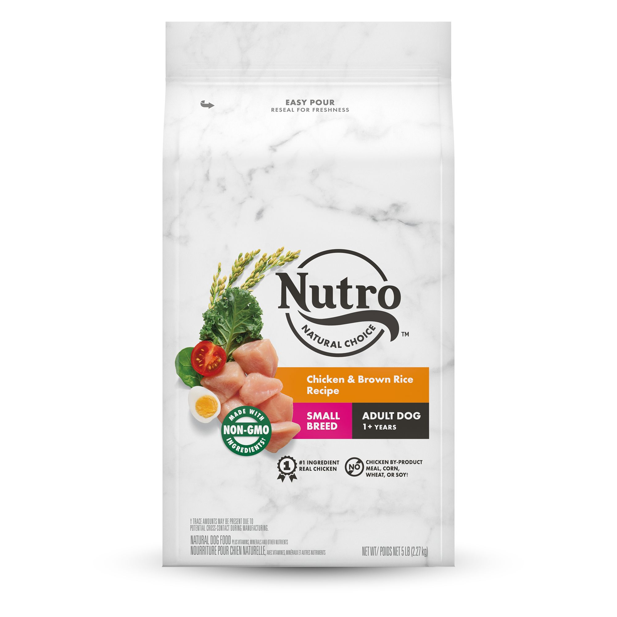 Nutro Wholesome Essentials Small Breed Adult Dog Food Chicken Brown Rice And Sweet Potato Size 5 Lb