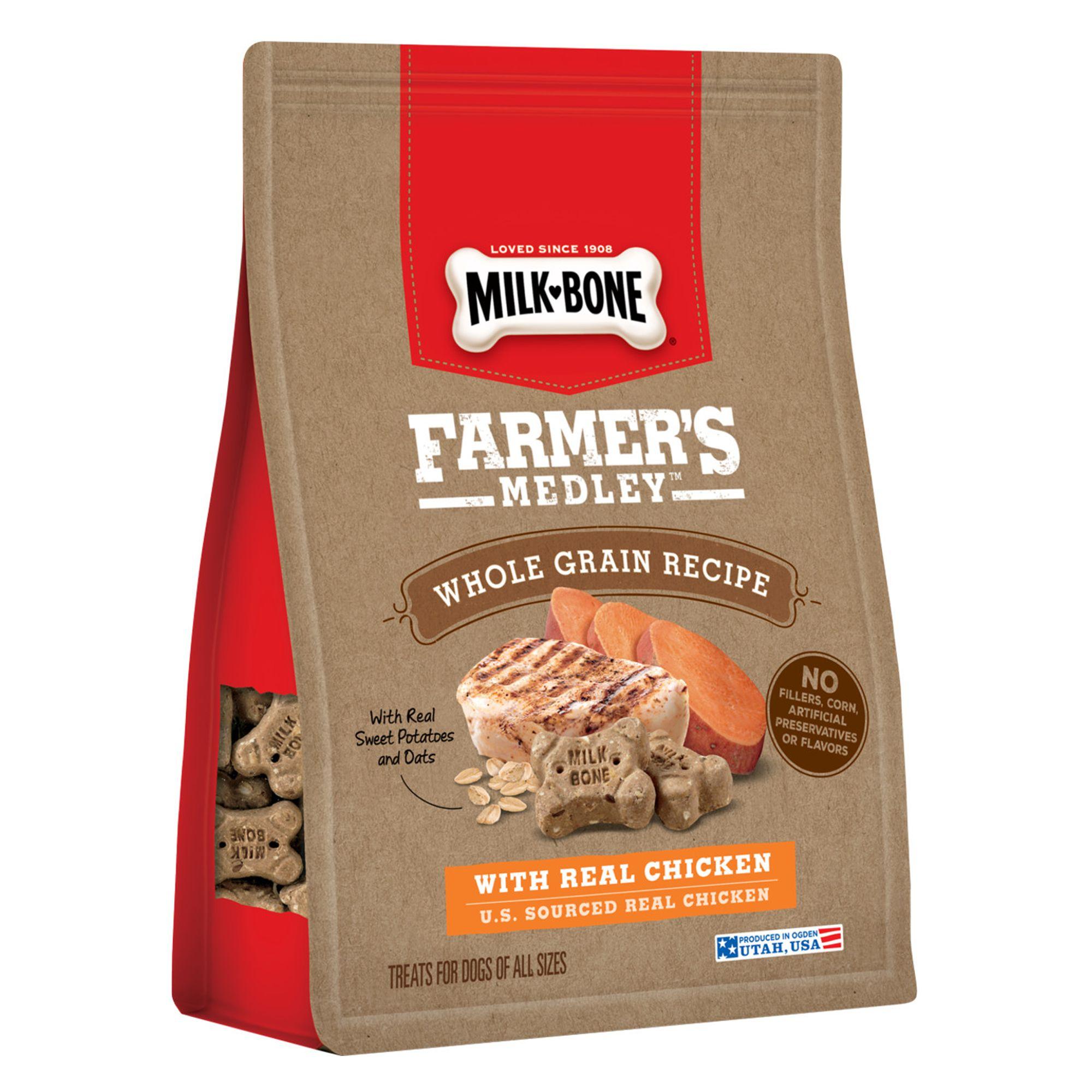 Milk-Bone Farmer's Medley Dog Treat - Chicken size: 12 Oz, Biscuit, Adult, Ground Whole Wheat
