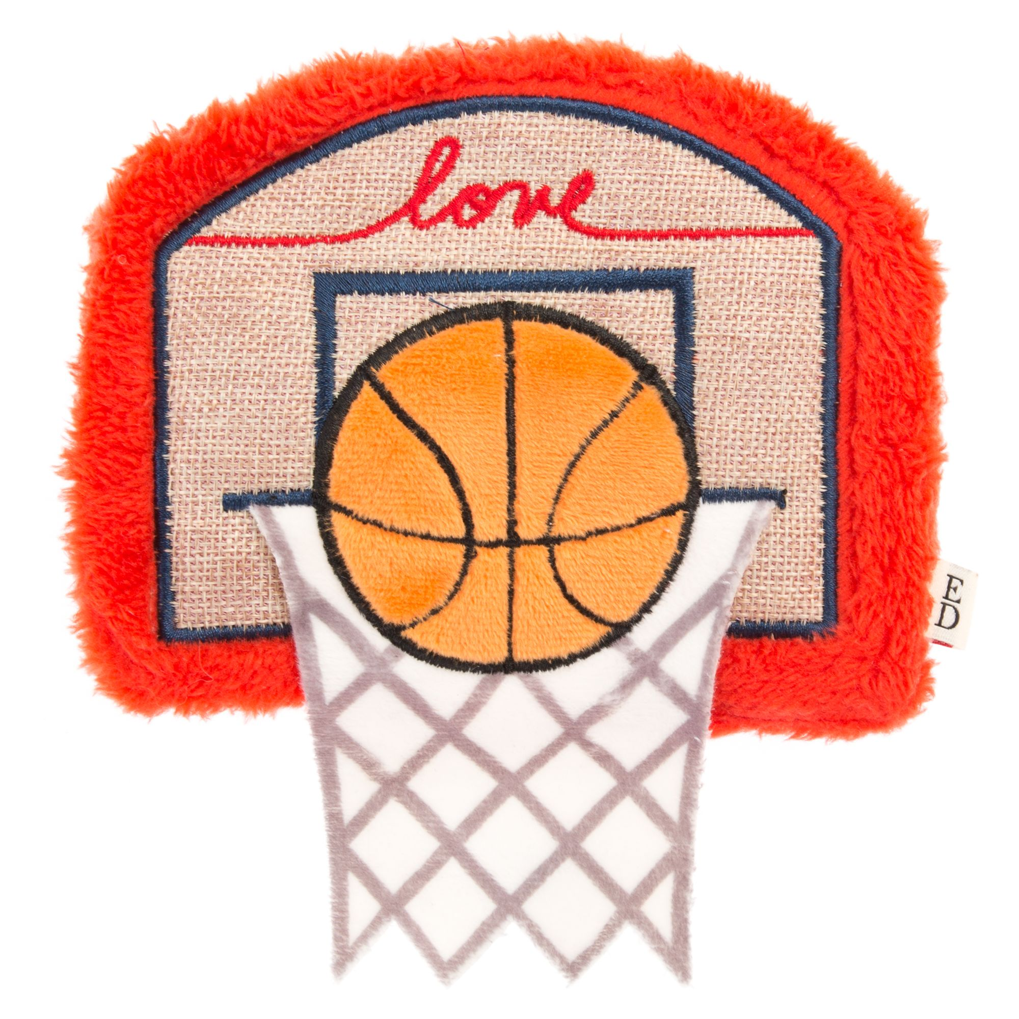 Ed Ellen Degeneres Basketball Hoop Dog Toy Plush Squeaker
