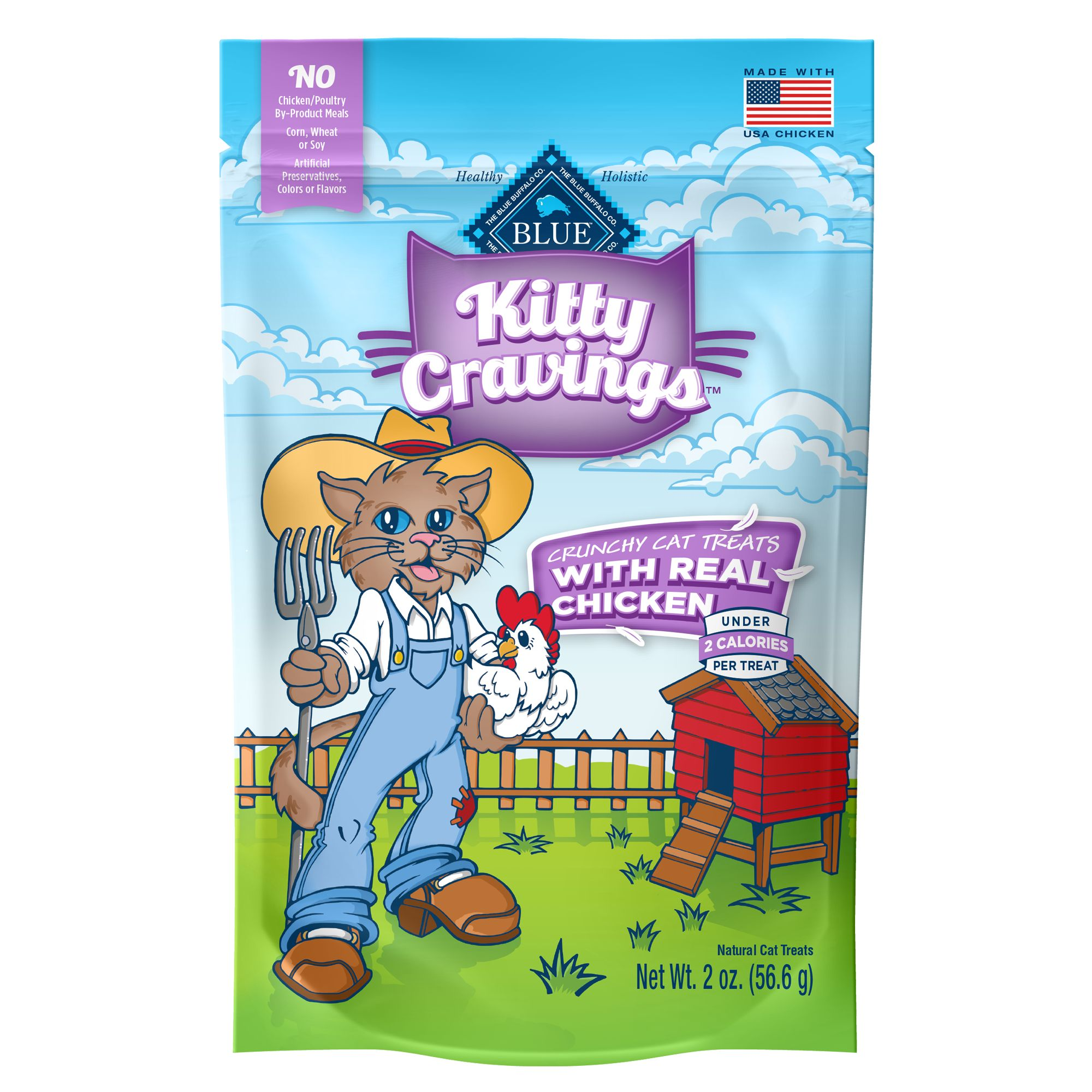 Blue Kitty Cravings Cat Treat - Natural, Chicken size: 2 Oz