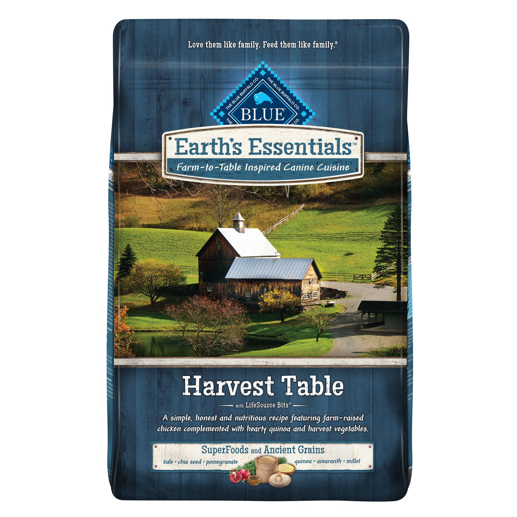 Blue Earth's Essentials Harvest Table Dog Food - Natural, Ch