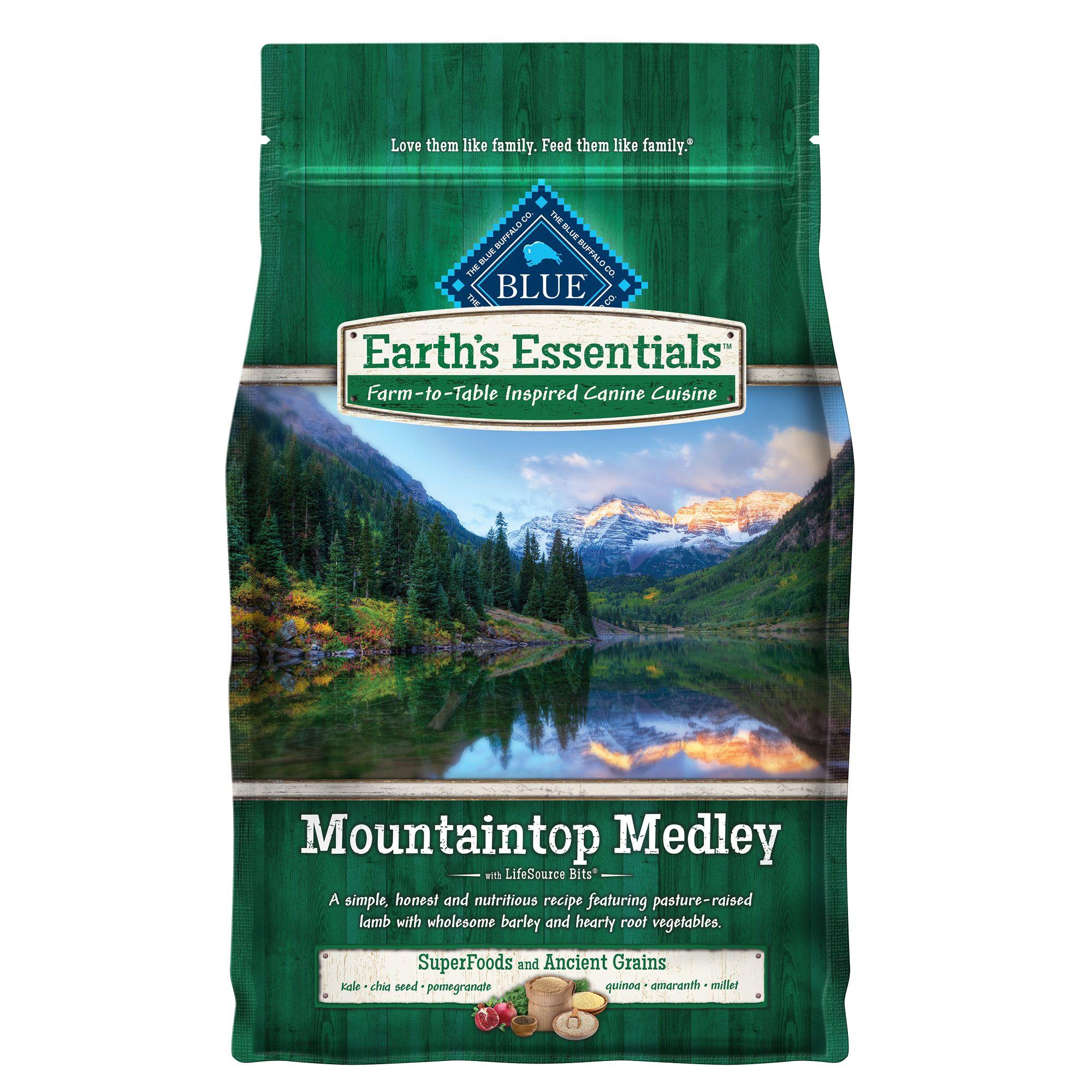 earth essentials mountaintop medley dog