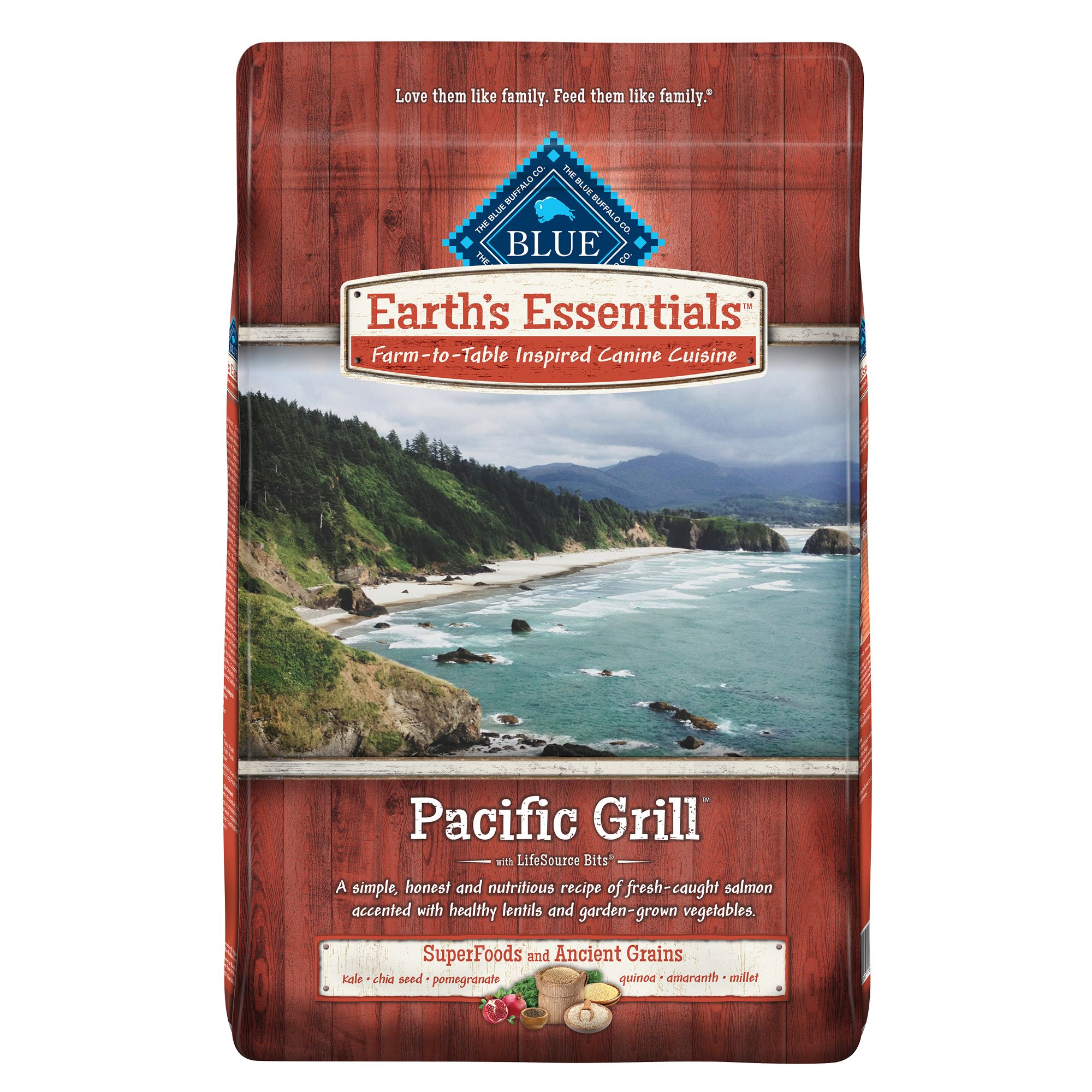 Blue Earth's Essentials Pacific Grill Dog Food - Natural, Sa