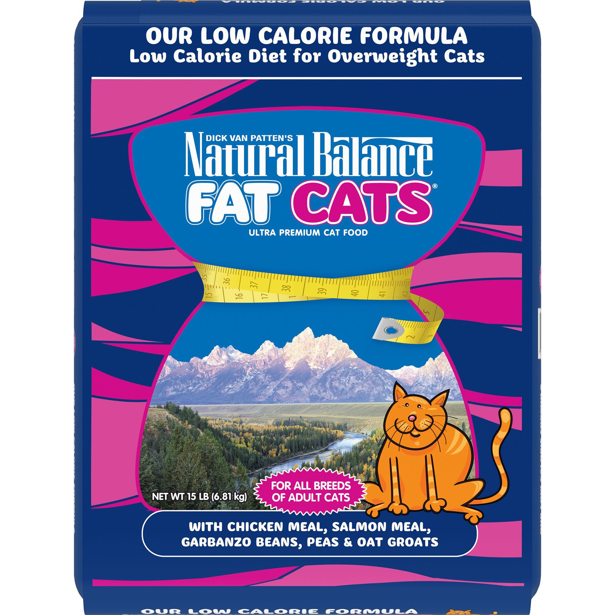 Unstudied Balance Fat Cats Adult Cat Food - Weight Control, Chicken Meal, Salmon Meal and Garbanzo Beans size: 15 Lb, Chicken & Salmon