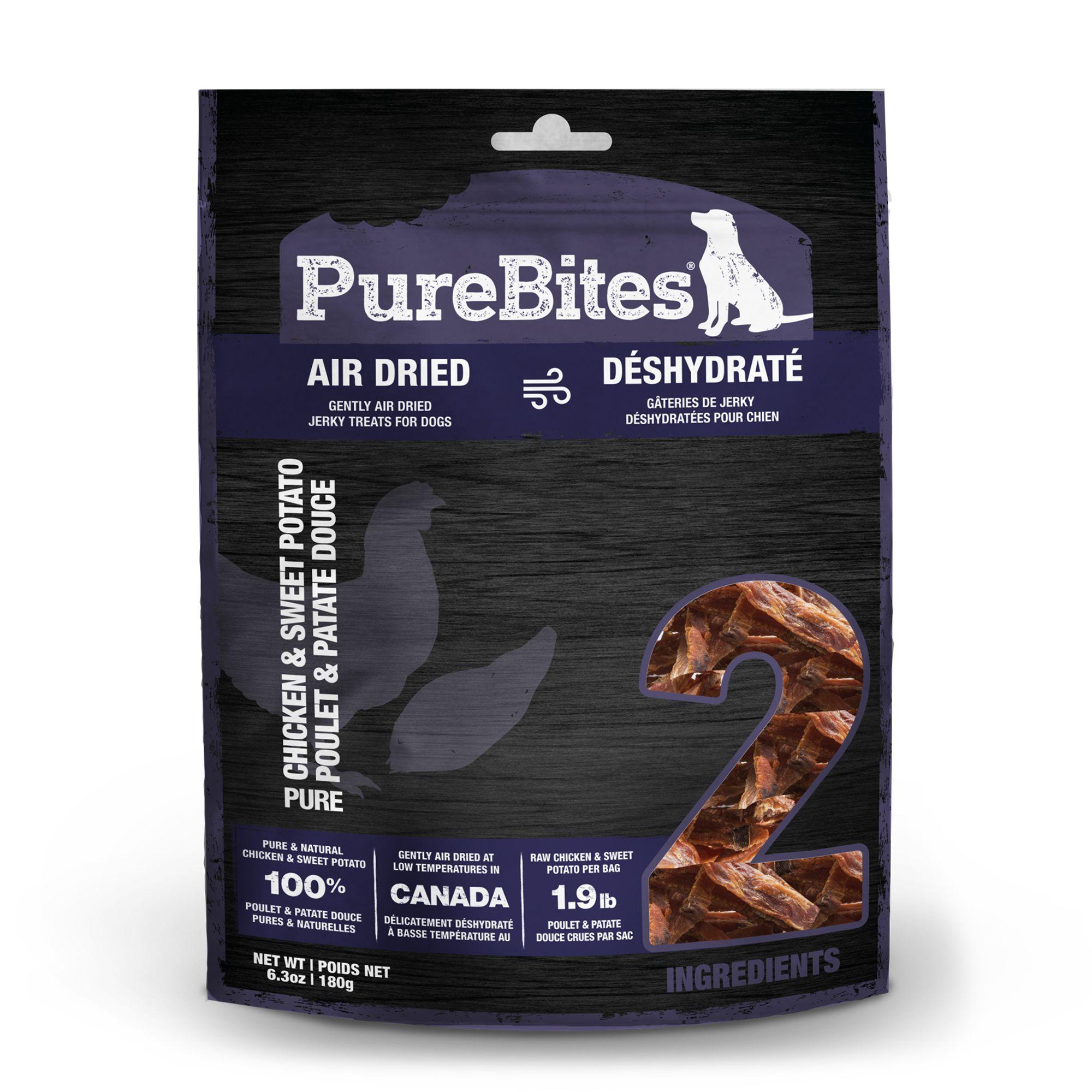PureBites Jerky Dog Treat - Natural, Chicken and Sweet Potato size: 6.3 Oz, Chicken & Sweet Potato, Dry, Chicken Breast 5265862
