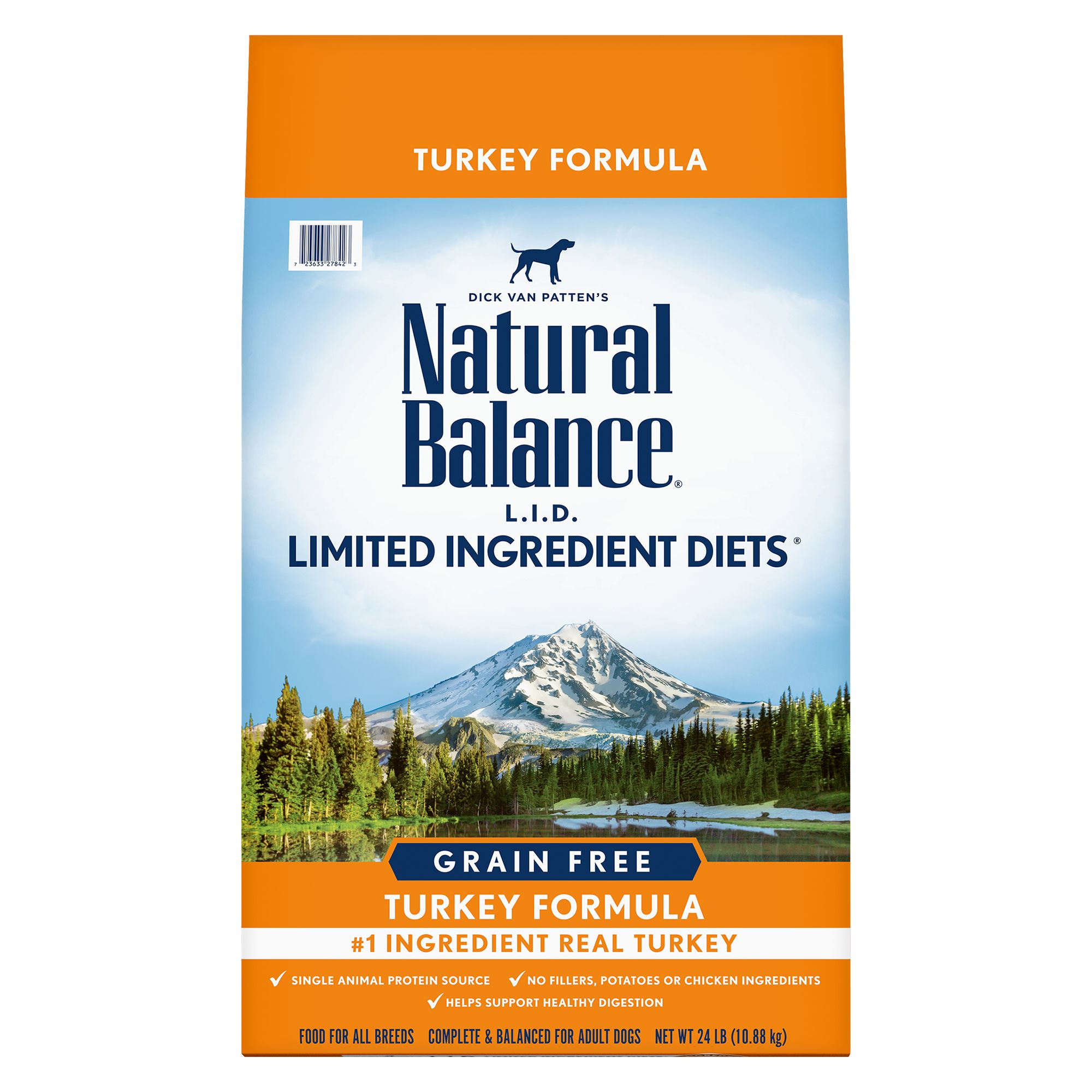 Natural Balance Limited Ingredient Diets High Protein Dog Food - Natural, Grain Free, Turkey size: 24 Lb, Kibble, Adult 5266300