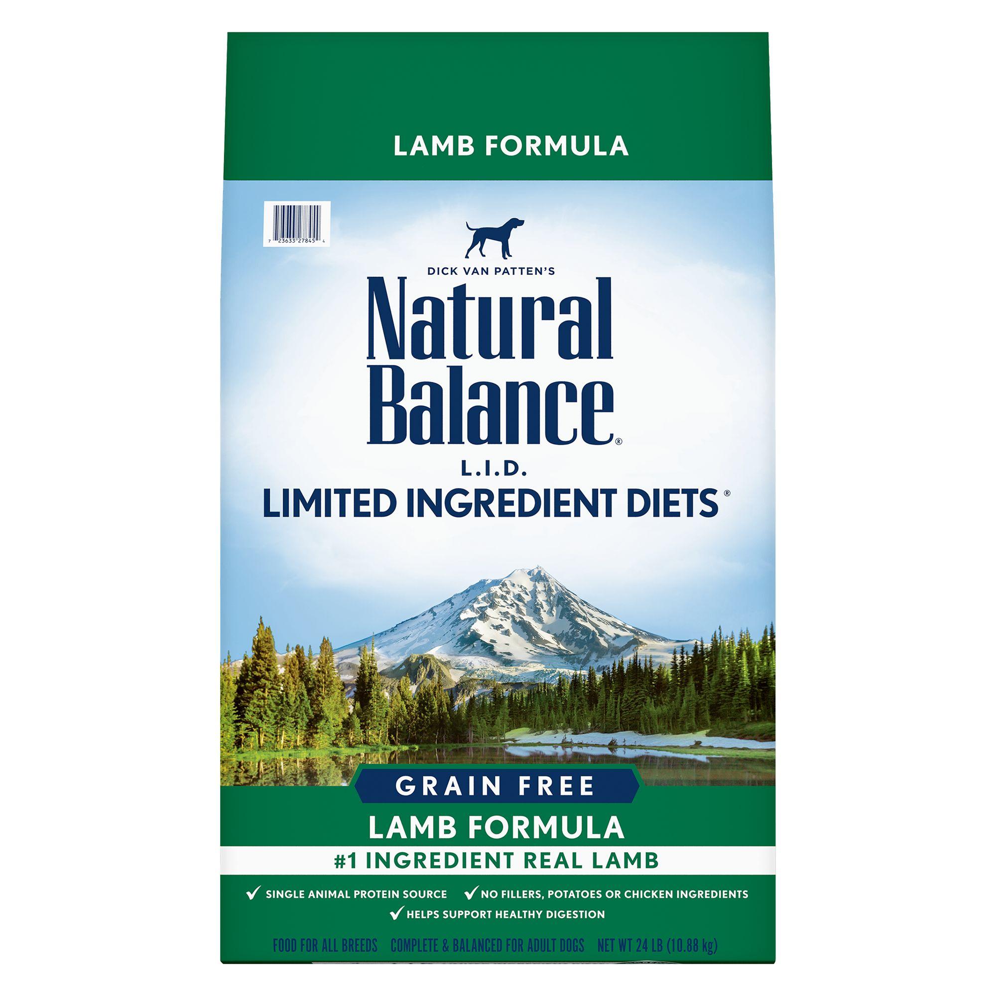Natural Balance Limited Ingredient Diets High Protien Adult Dog Food - Natural, Lamb size: 24 Lb 5266303