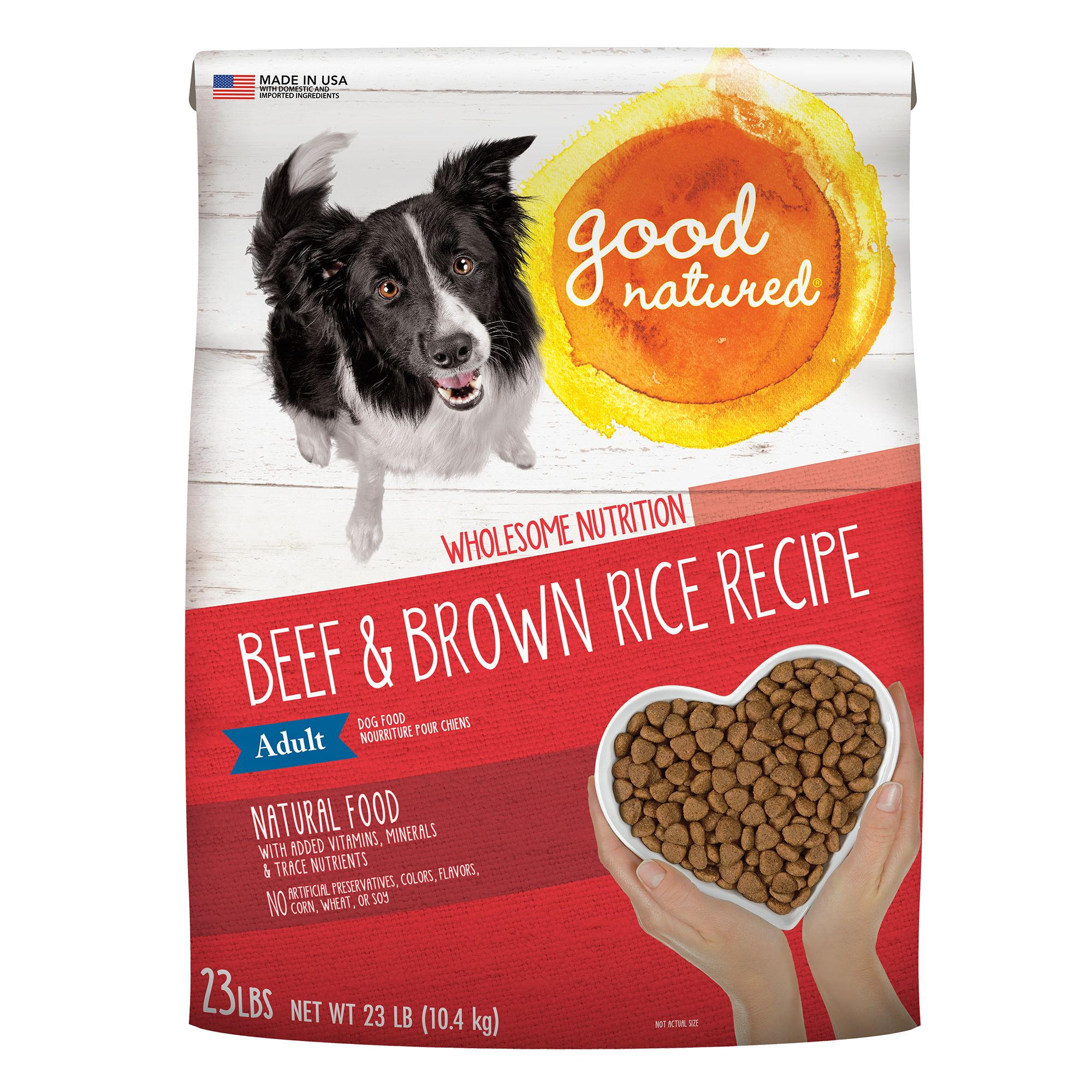 Good Natured, Grain Free Adult Dog Food - Natural, Beef and Brown Rice size: 23 Lb 5266316