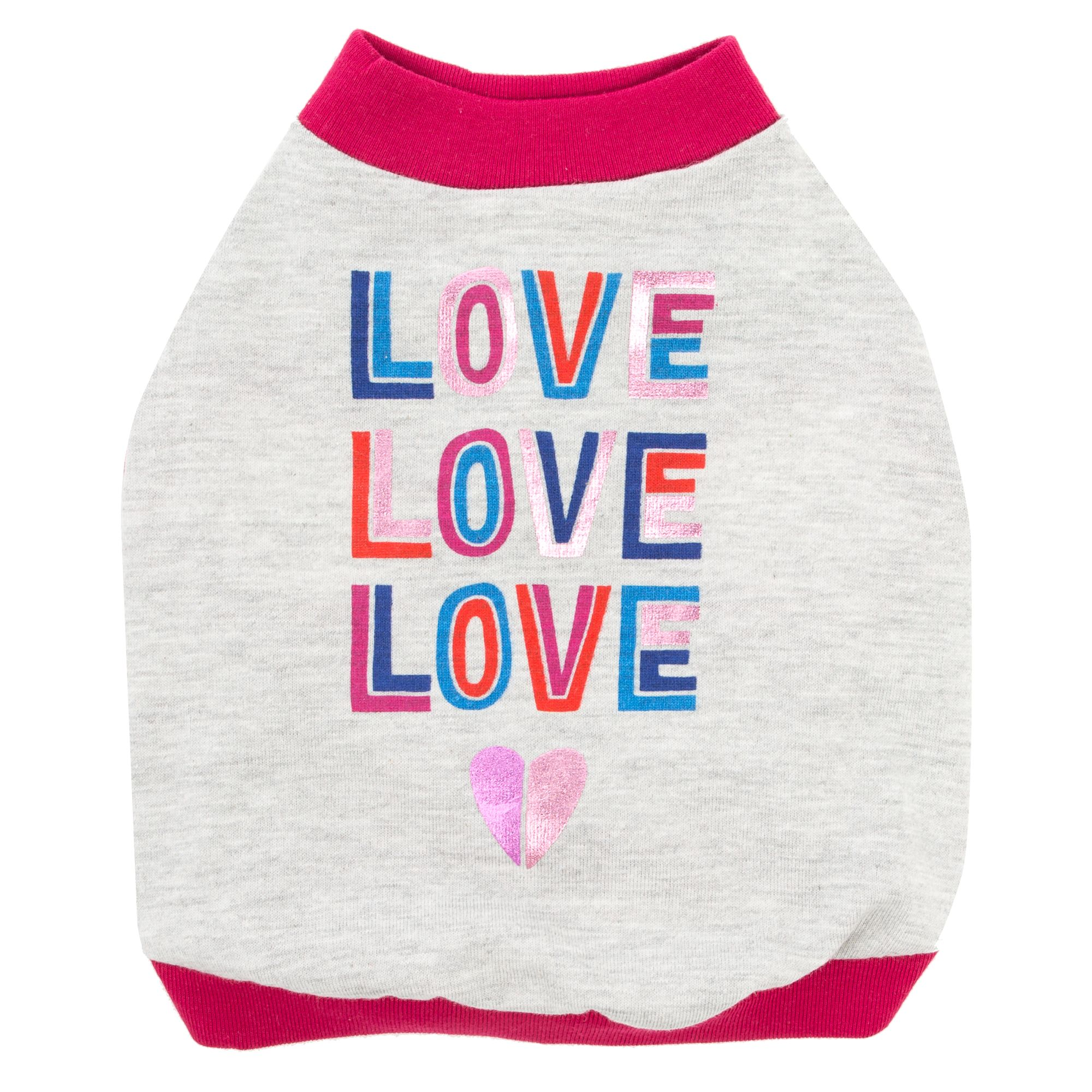 "Top Paw ""Love Love Love"" Dog Tee size: Medium 5267943"