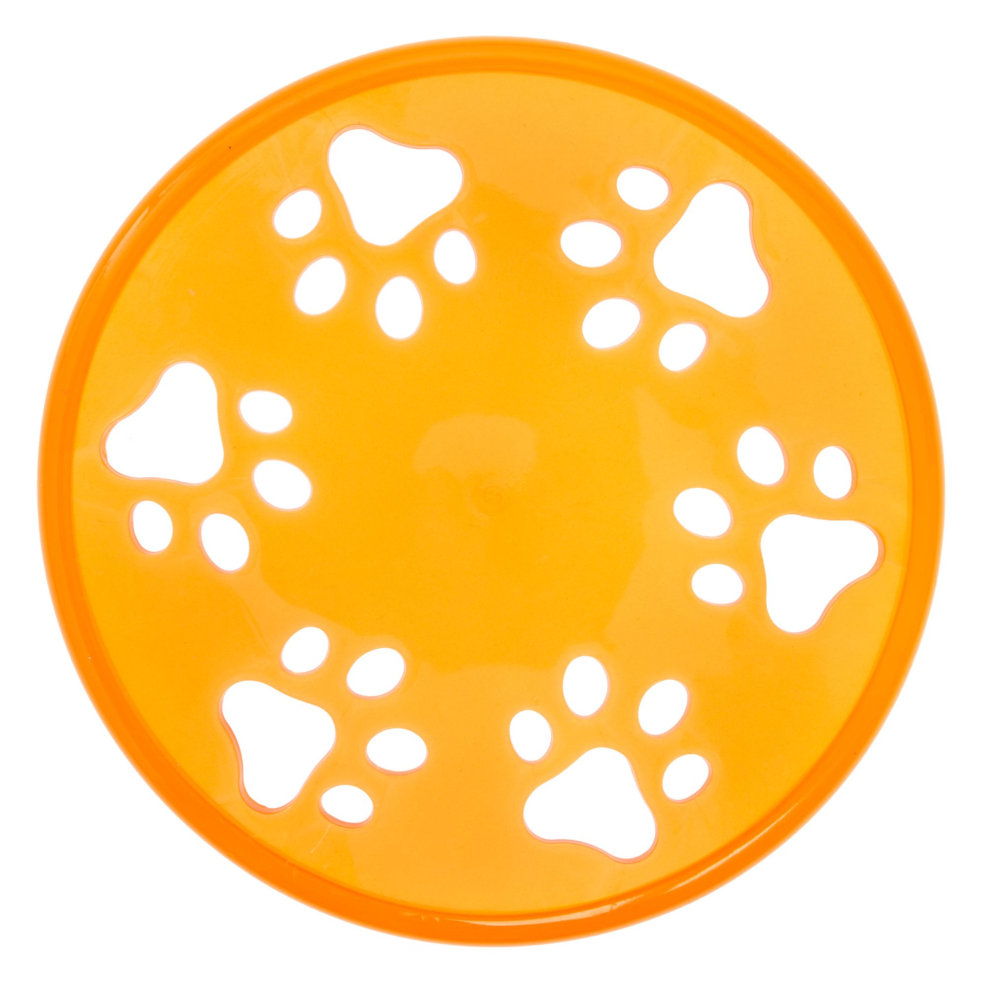 Grreat Choice Paw Flyer Dog Toy, Orange 5267954